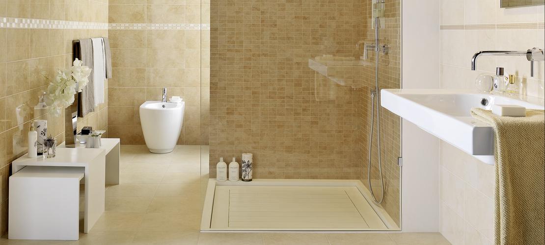Suite ceramica lucida effetto marmo marazzi - Piastrelle di marmo ...