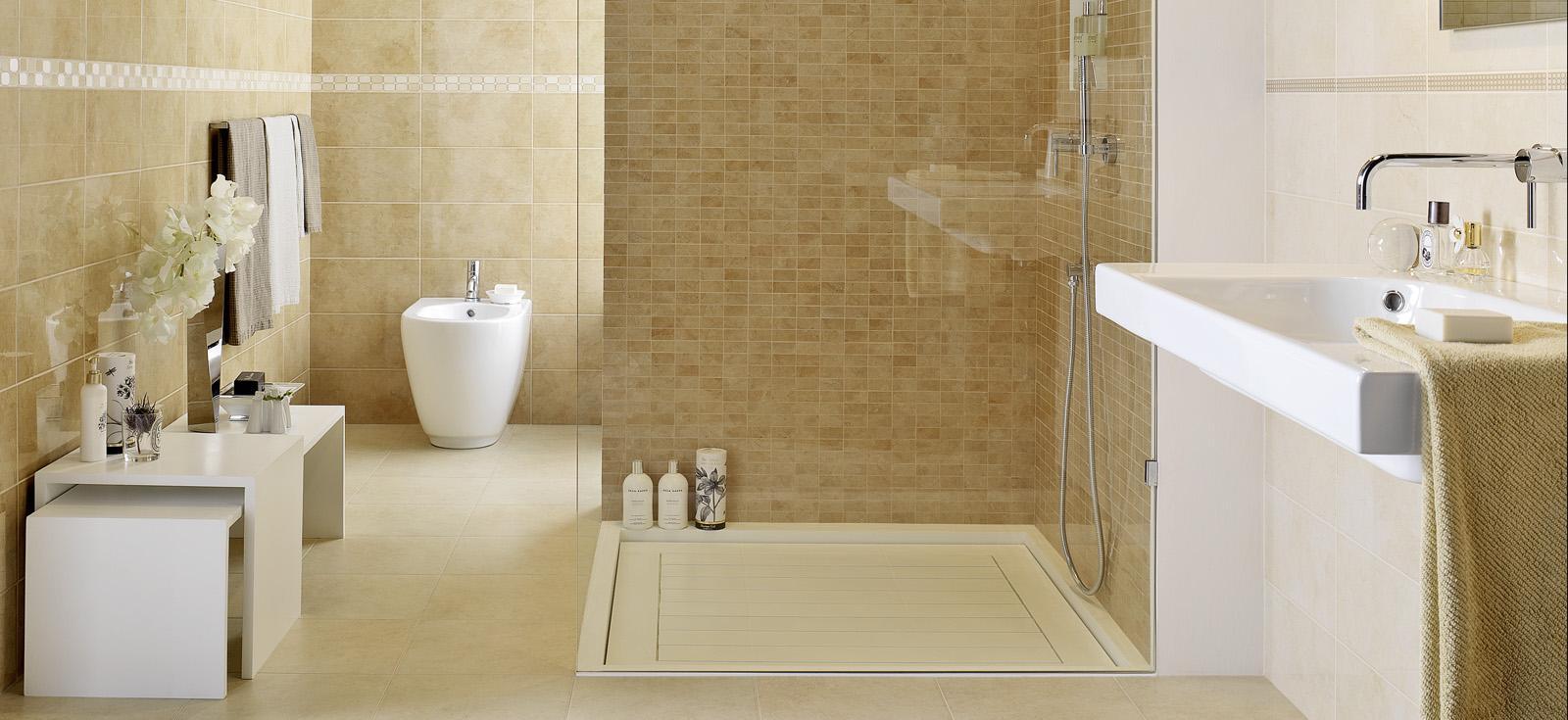 Suite ceramica lucida effetto marmo marazzi for Bagno effetto marmo
