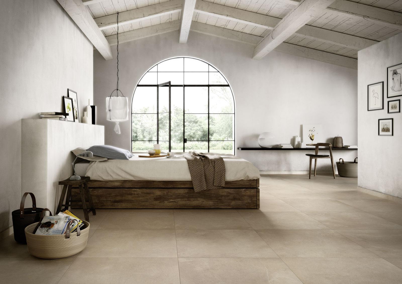 Gres porcellanato effetto pietra per camera da letto marazzi