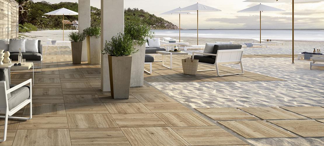 Treverkhome20 pavimento per esterno spessore 20mm marazzi - Gres porcellanato effetto legno da esterno ...