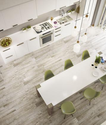Gres porcellanato effetto legno colore bianco marazzi - Piastrelle finto legno bianco ...