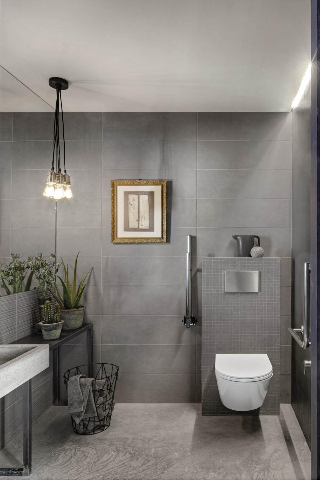 Chalk rivestimento effetto cemento marazzi - Rivestimento bagno grigio ...