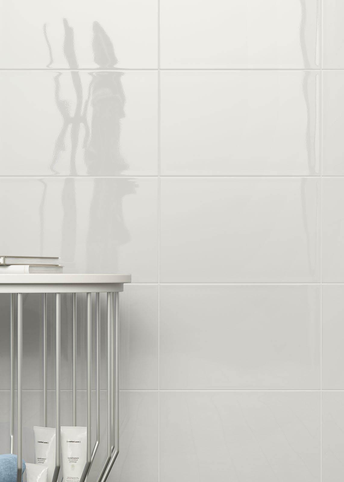 Chroma rivestimento bagno lucido marazzi - Piastrelle bagno grigio chiaro chic piastrelle bagno ...