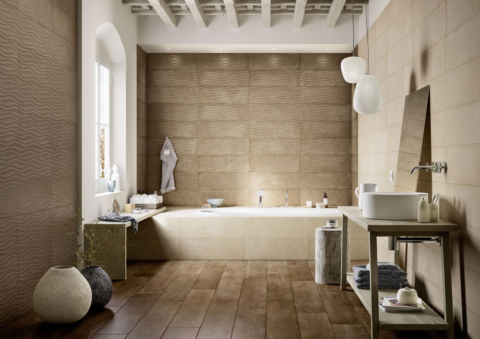 Clayline rivestimento per bagno marazzi - Marazzi piastrelle bagno ...