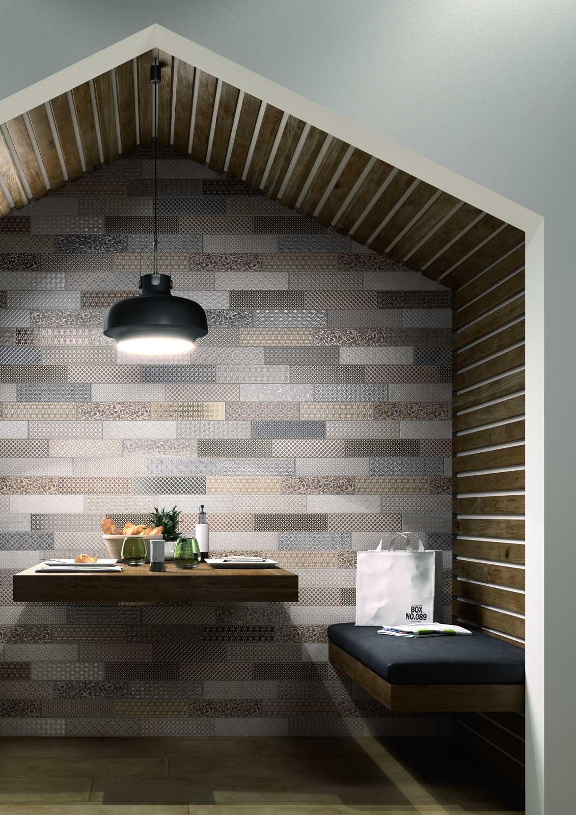 clays - gres porcellanato effetto cotto cemento   marazzi - Piccolo Bagno Moderno Mosaico