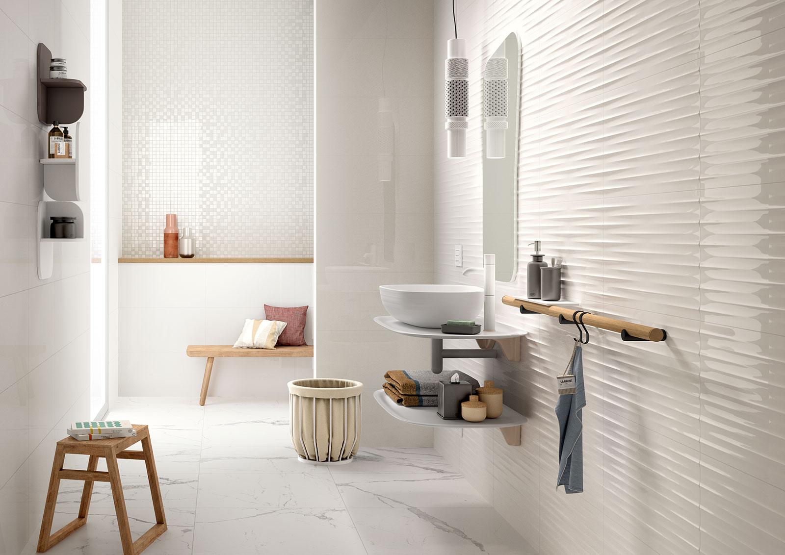 mattonelle per bagno ceramica e gres porcellanato marazzi. Black Bedroom Furniture Sets. Home Design Ideas
