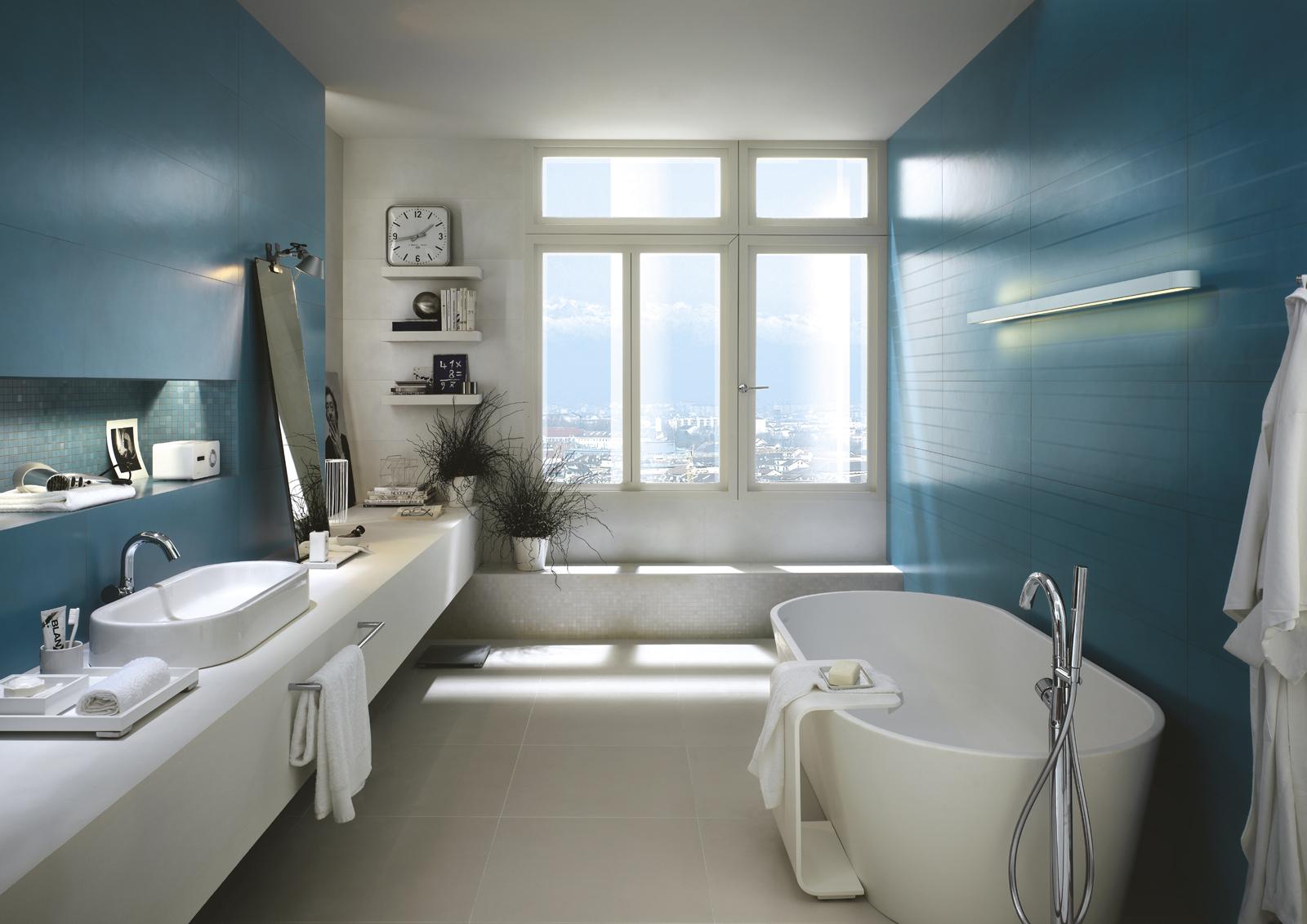 Salotto Colore Giallo : Piastrelle azzurro guarda le collezioni marazzi