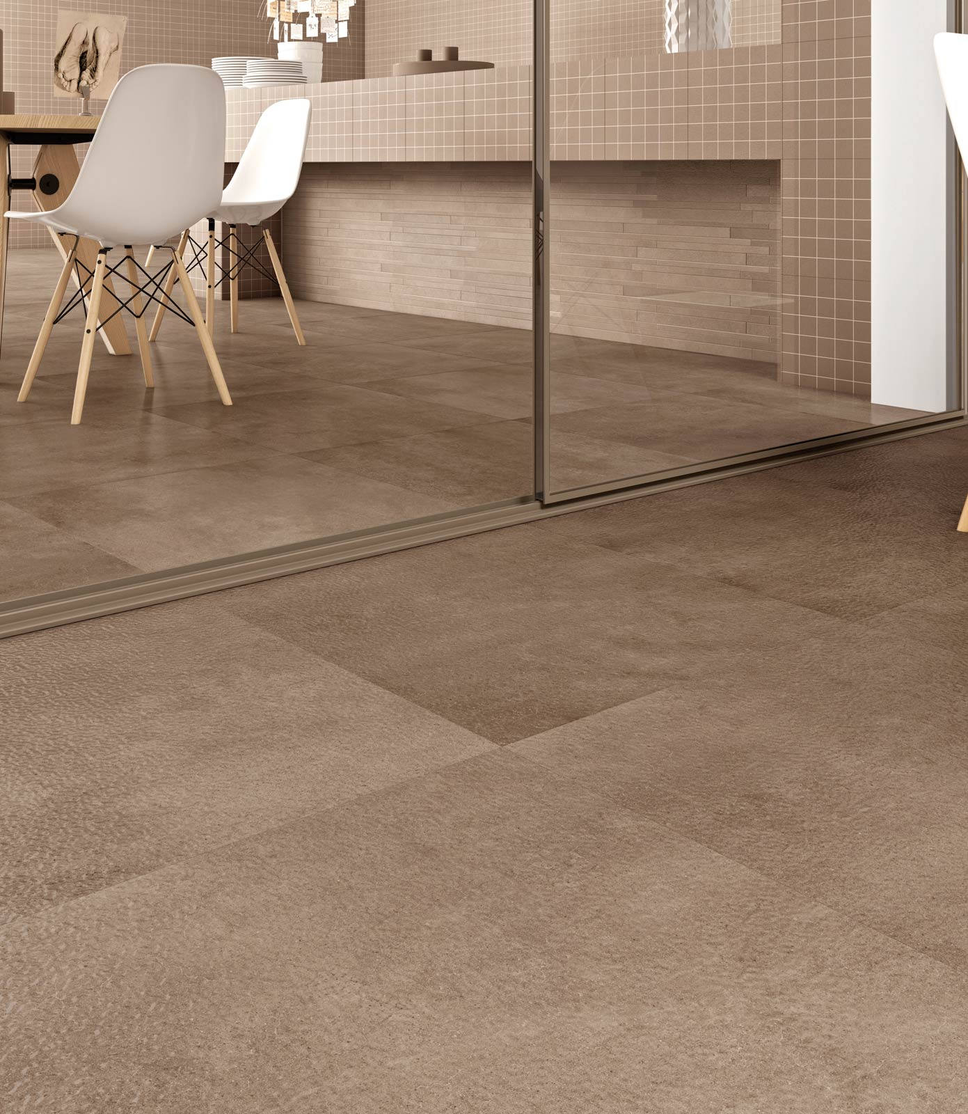 Denver gres porcellanato effetto cemento marazzi for Piastrelle per interno piscina