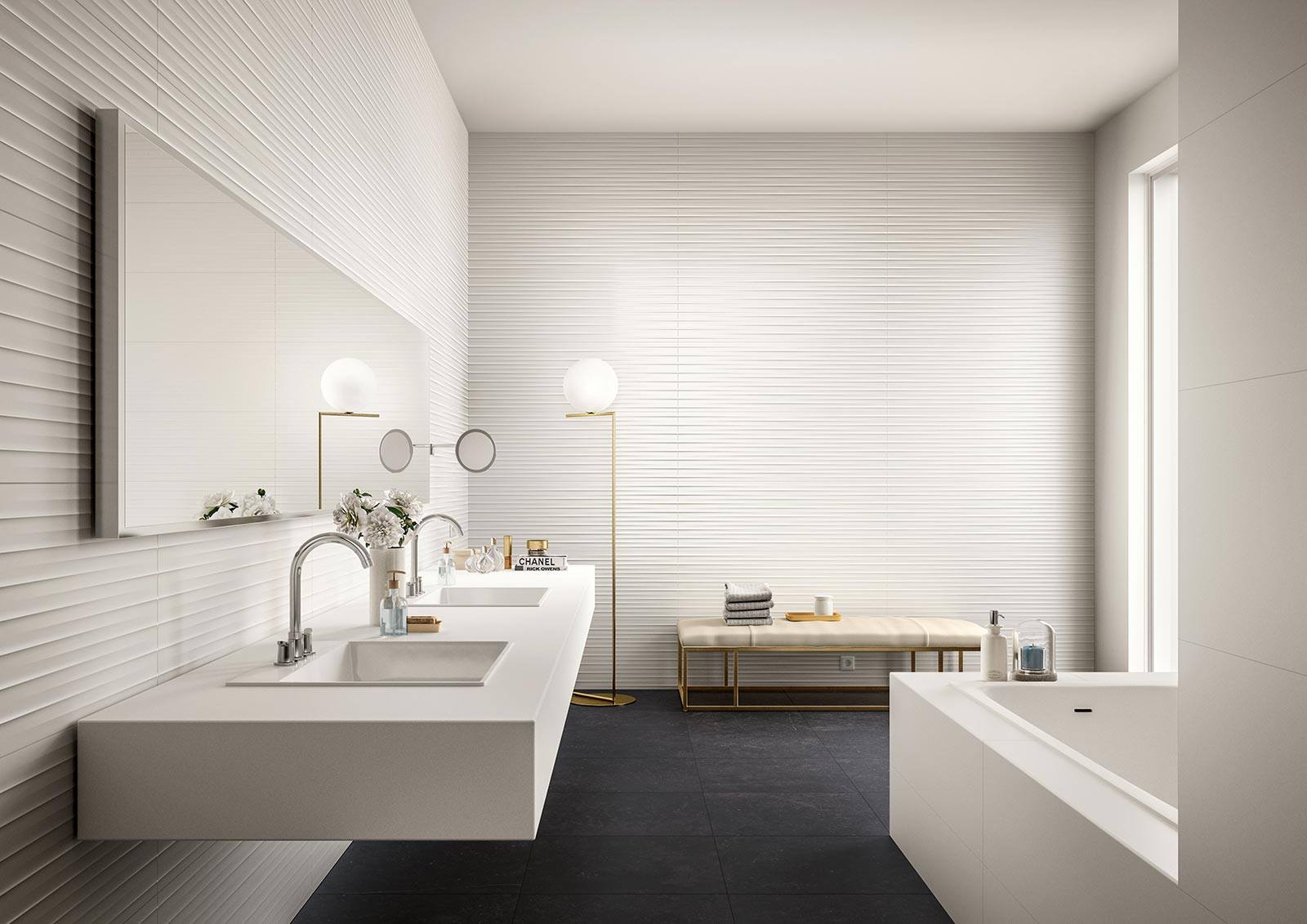 Essenziale - Ceramica bianca per bagni  Marazzi
