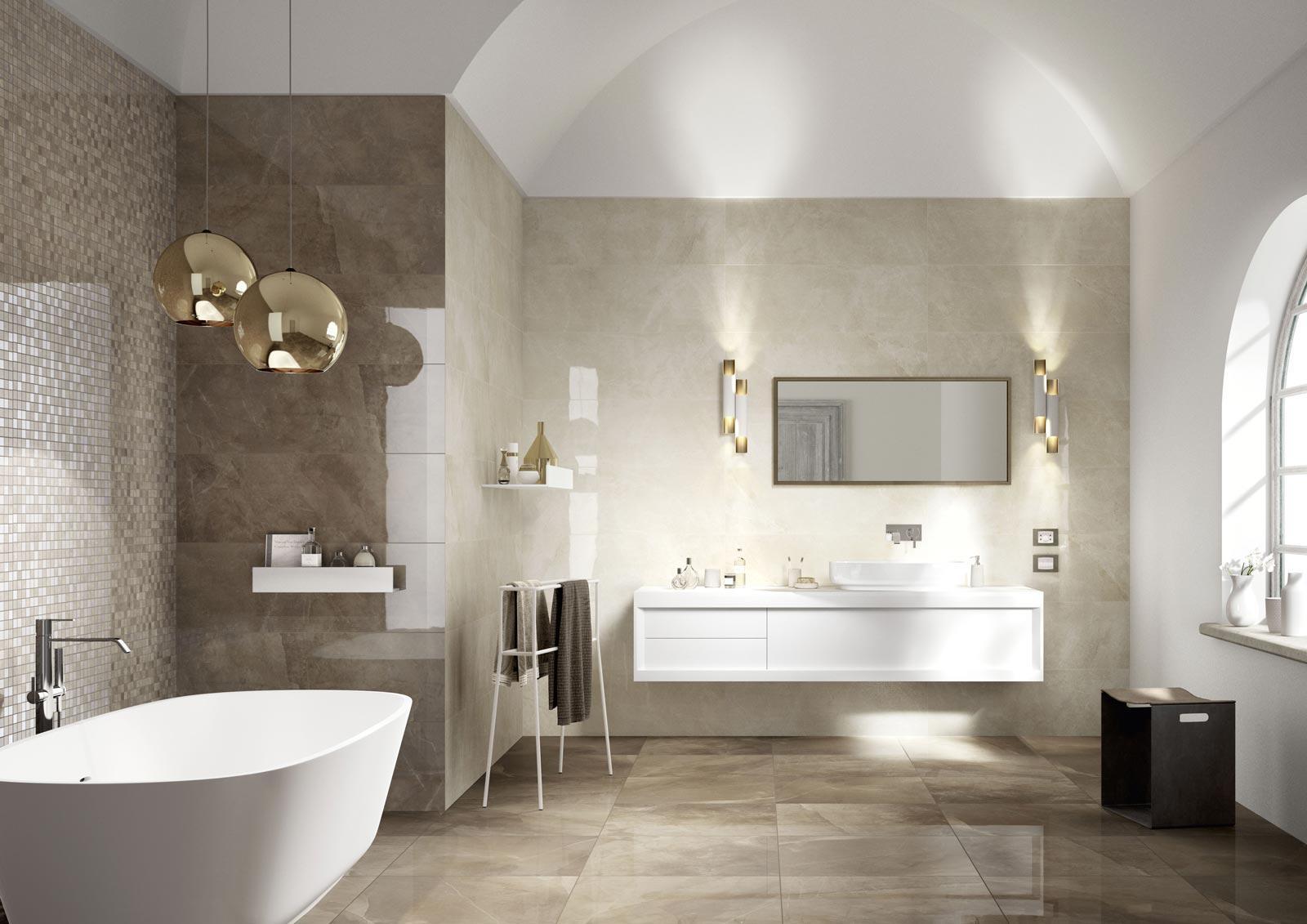 Evolutionmarble rivestimento effetto marmo marazzi for Marazzi bagno