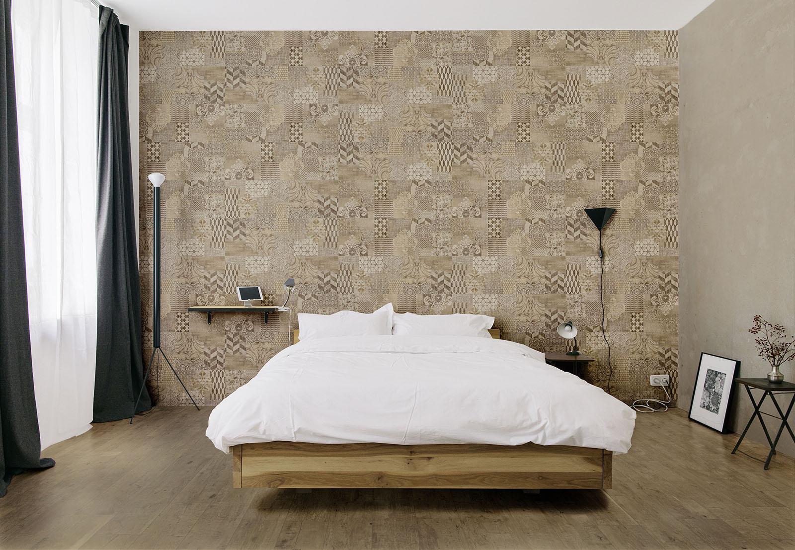Piastrelle camera da letto idee in ceramica e gres marazzi - Rivestimento parete camera da letto ...