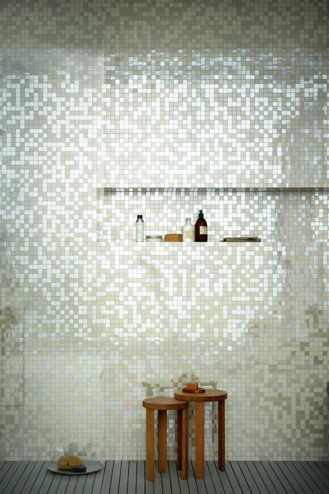 Piastrelle a mosaico per bagno e altri ambienti marazzi for Piastrelle bagno mosaico grigio