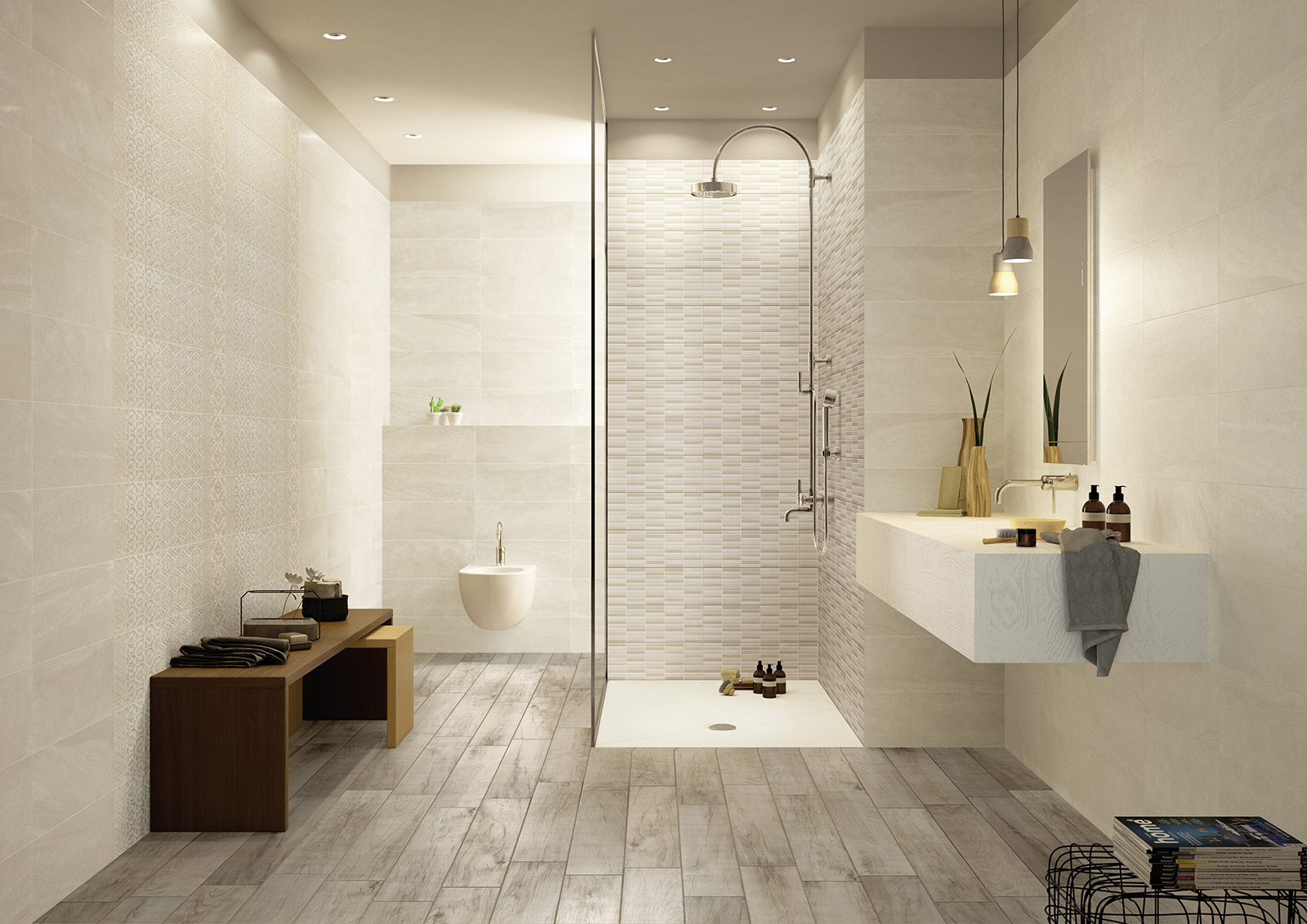 Interiors rivestimento bagno e cucina marazzi - Bagno arredamento piastrelle ...