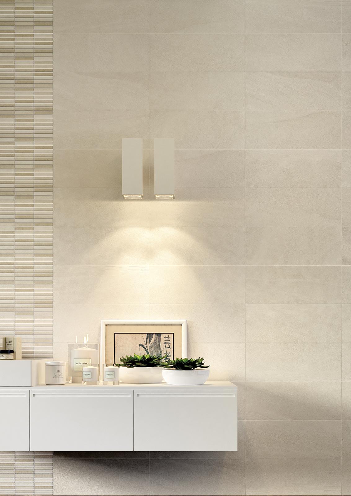 Interiors rivestimento bagno e cucina marazzi for Piastrelle 3 formati