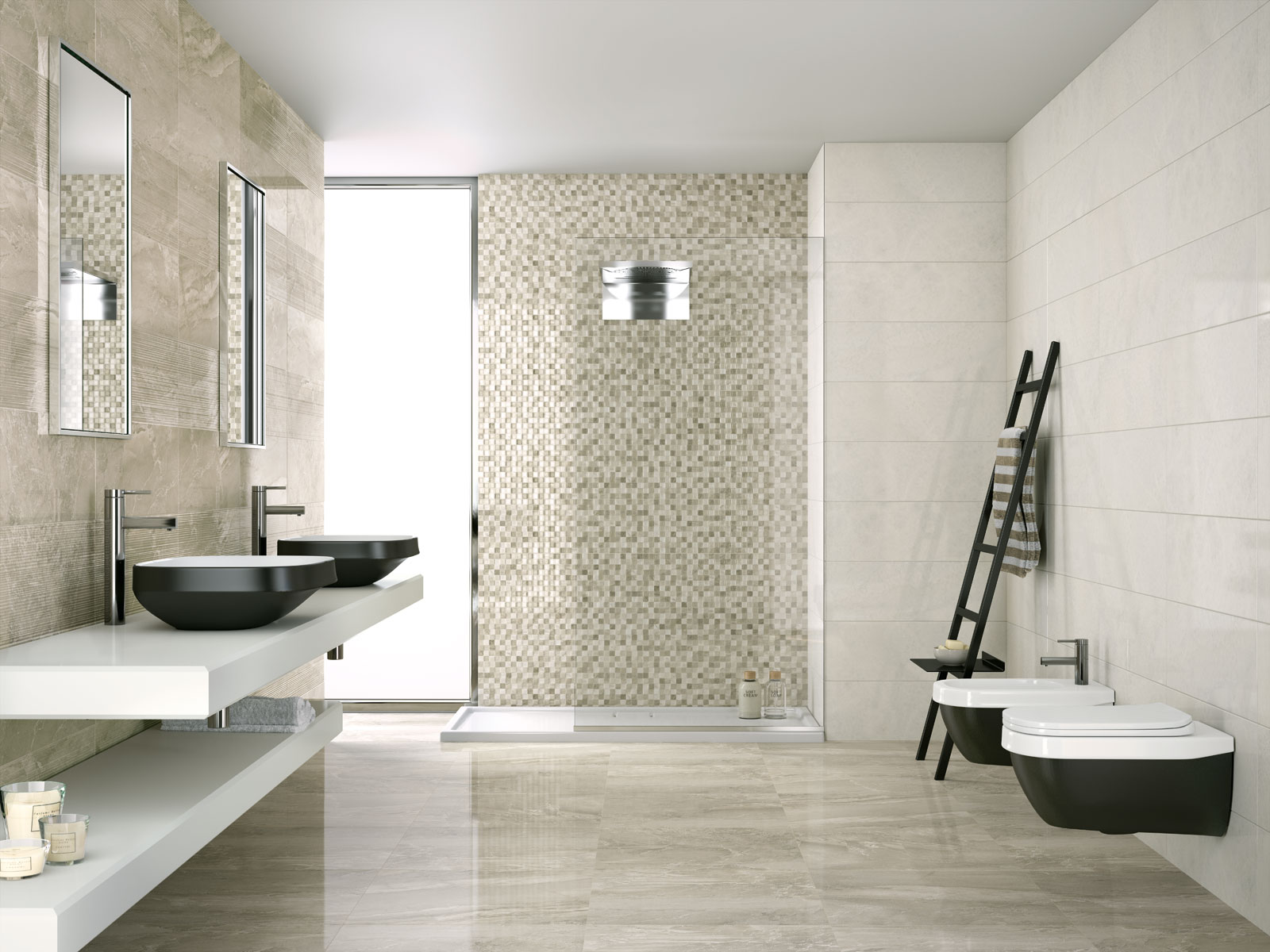 Piastrelle bagno marazzi effetto marmo allmarble gres effetto