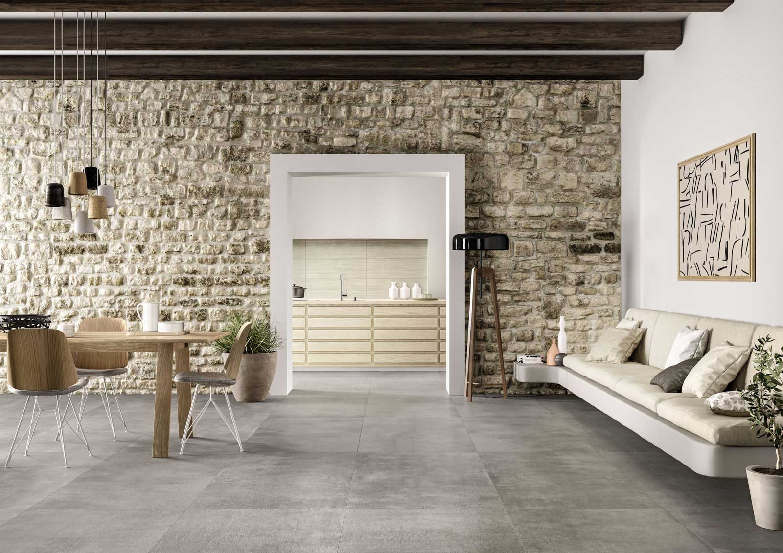 Piastrelle per salotto ispirazione per l 39 arredo marazzi for Piastrelle per interno piscina