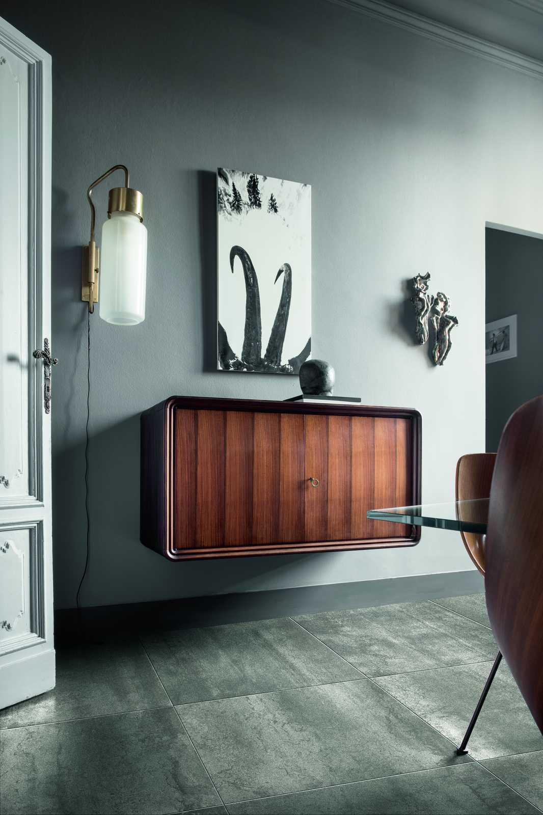Bagno Minimal Bianco Rivestimento Nero Interior Design : Piastrelle grigio perla scuro chiaro tortora marazzi