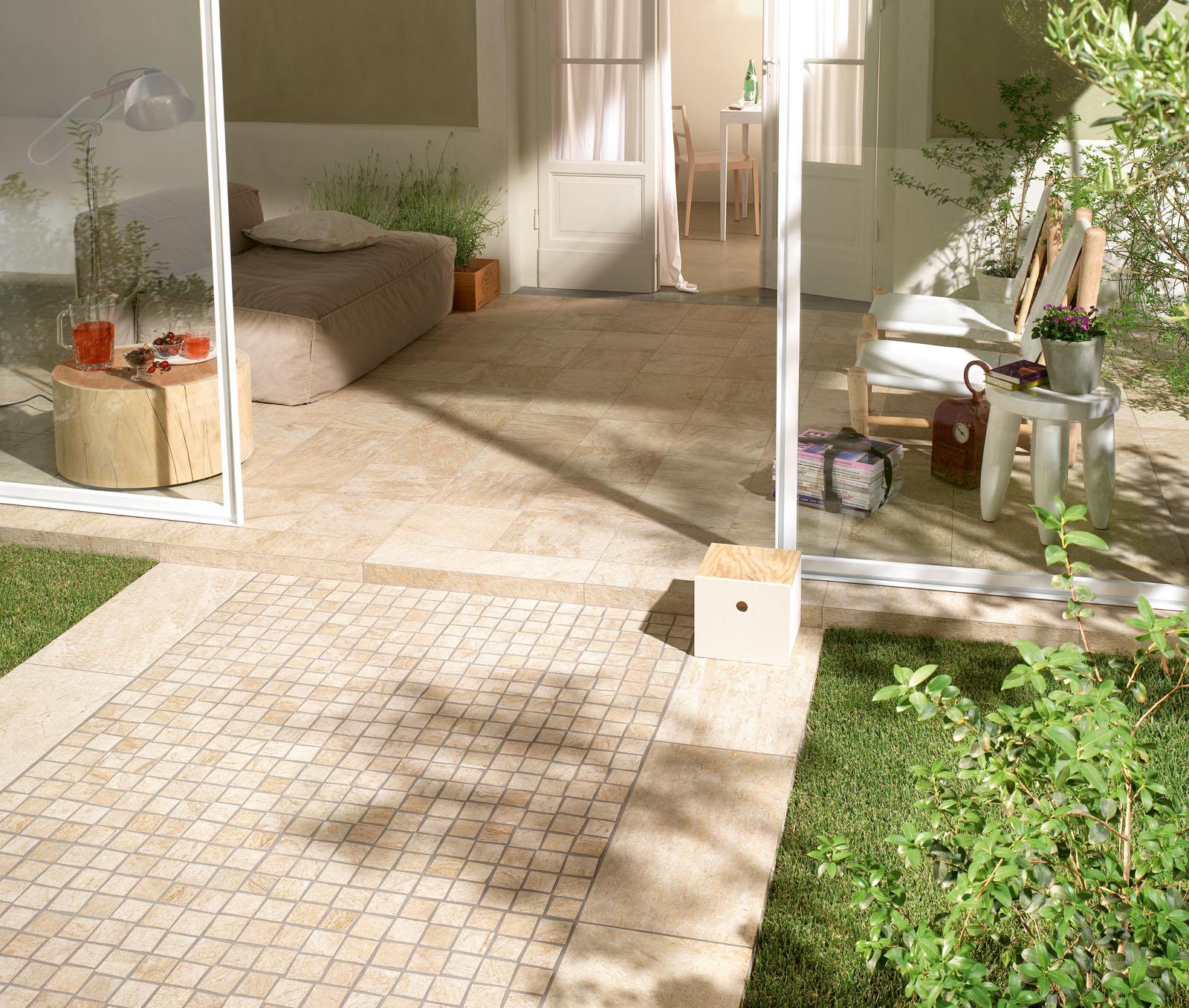 Pavimenti per interni ed esterni le collezioni marazzi - Mattonelle per esterno ...