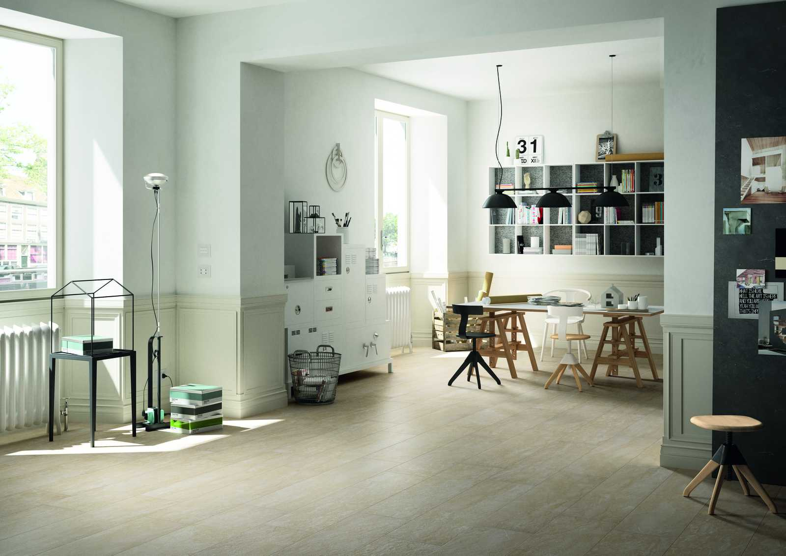 Pavimenti e rivestimenti di grandi formati marazzi - Piastrelle cucina pietra ...