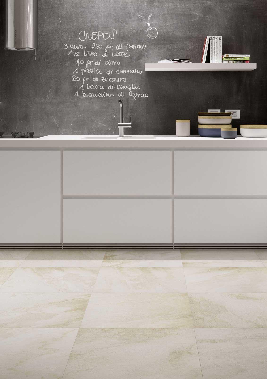 Piastrelle cucina idee in ceramica e gres marazzi for Piastrelle parete cucina