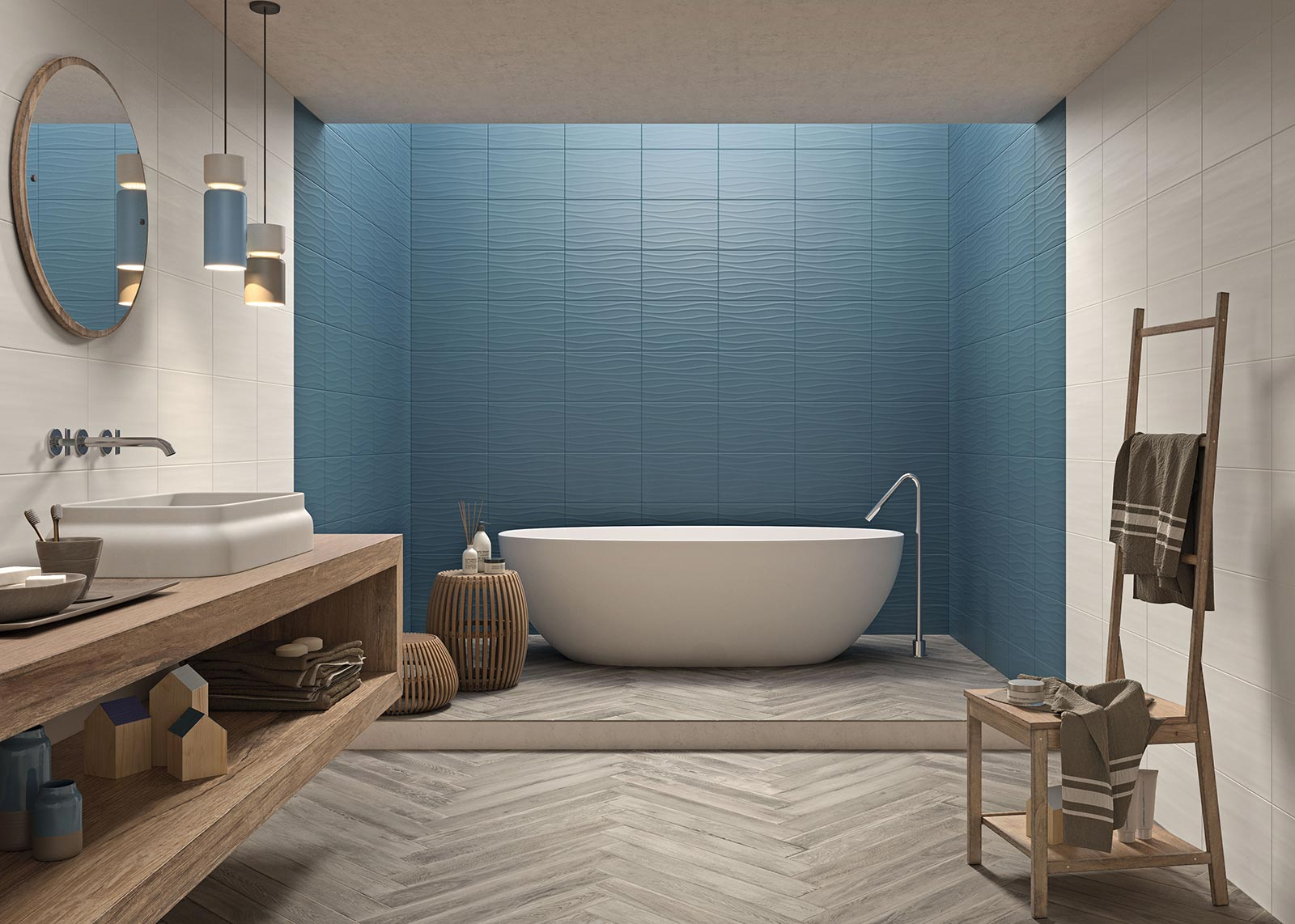 Mattonelle per bagno ceramica e gres porcellanato marazzi - Colori piastrelle bagno ...
