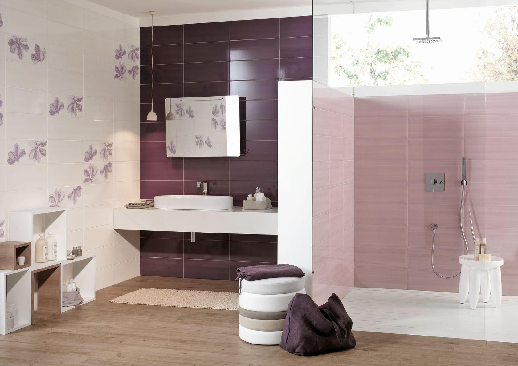 Nuance ceramiche per rivestimento bagno marazzi - Piastrelle viola bagno ...