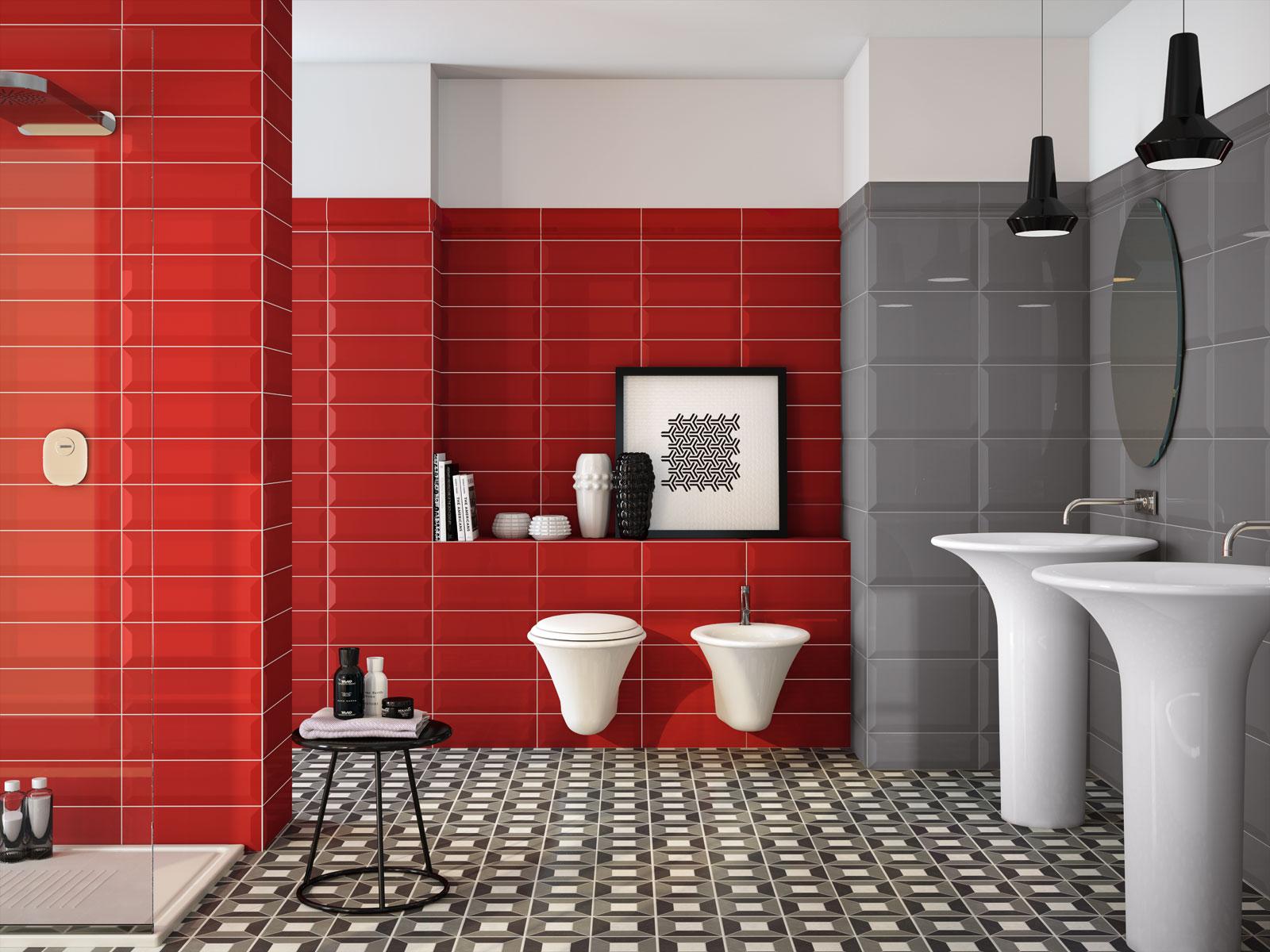 ... rosso e dona carattere agli ambienti della casa con le piastrelle