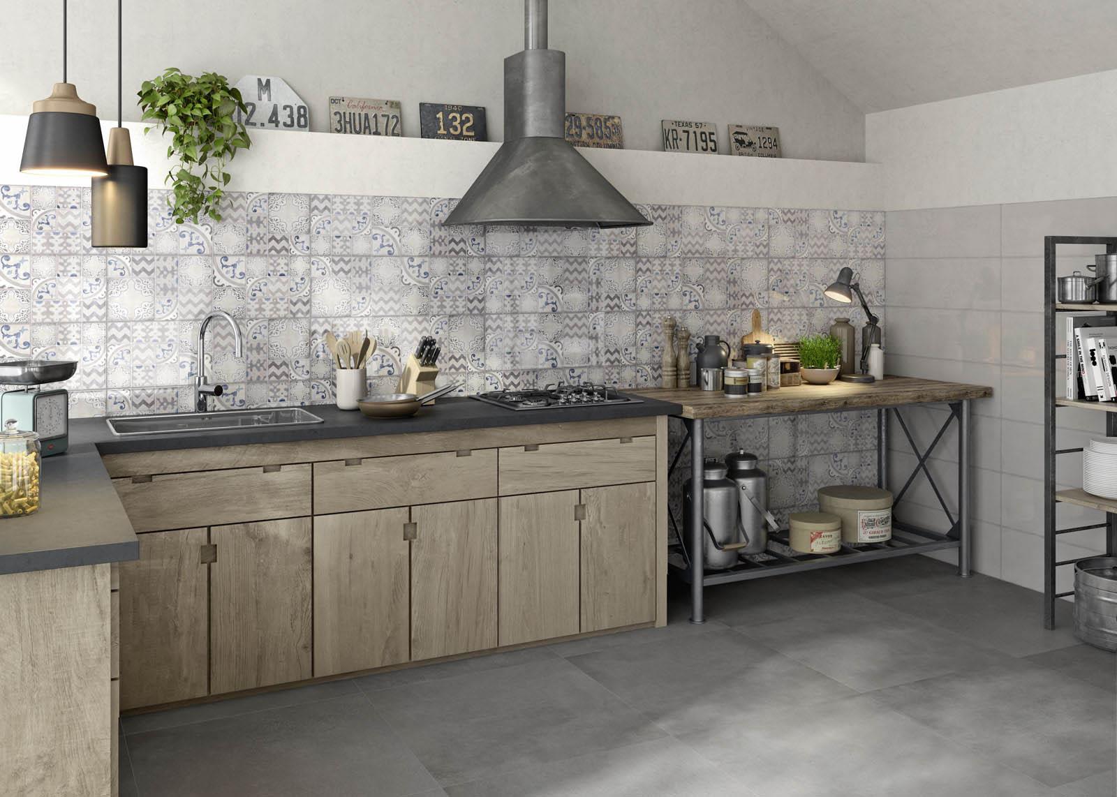 Piastrelle cucina idee in ceramica e gres marazzi - Piastrelle per cucina bianca ...