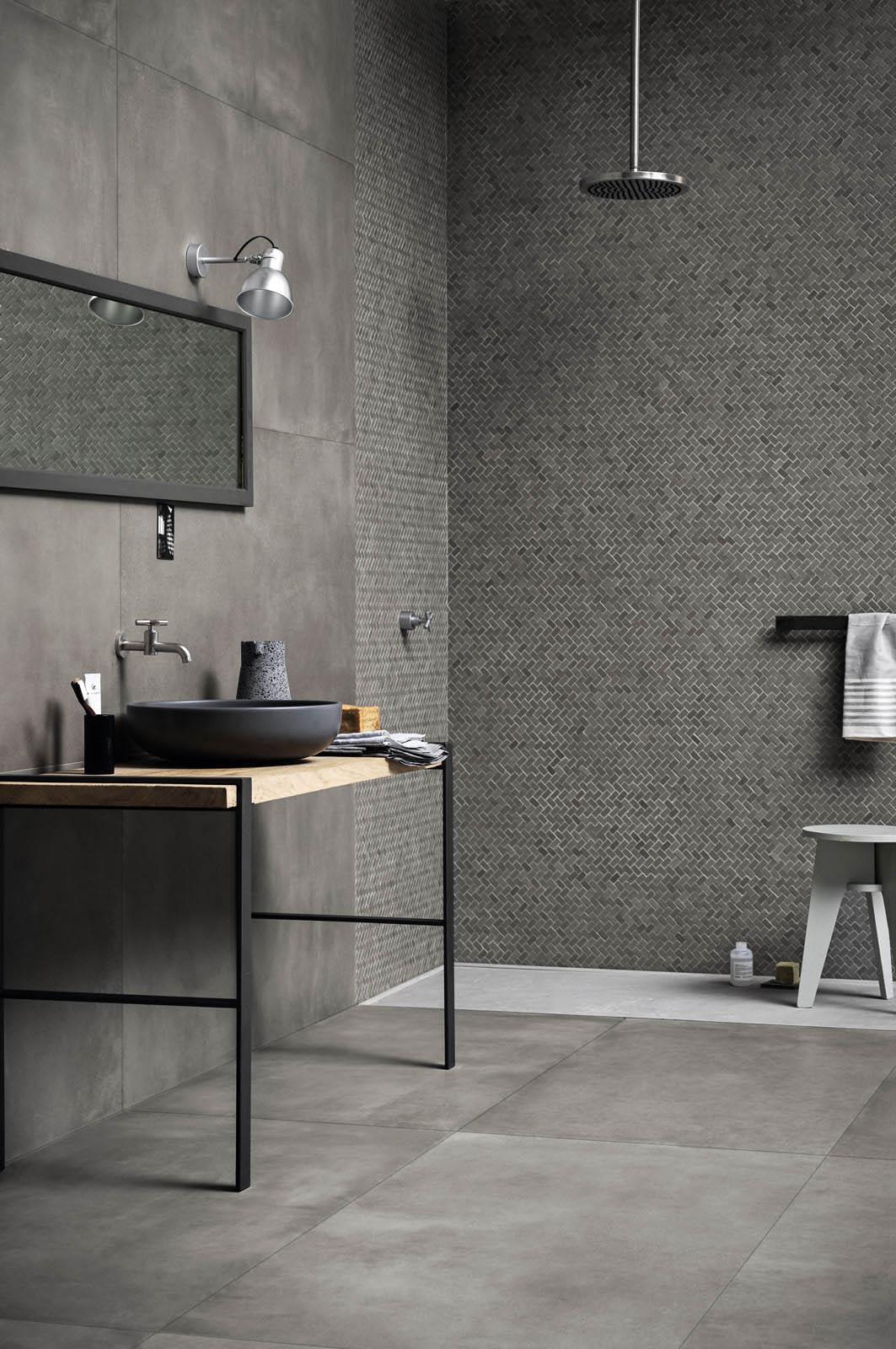Powder gres effetto cemento marazzi for Marazzi design kitchen gallery
