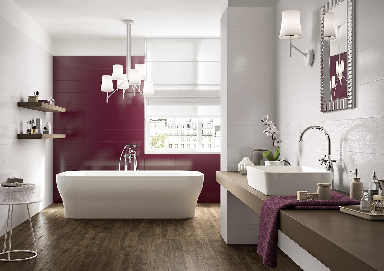 Piastrelle viola scopri le collezioni marazzi - Piastrelle viola bagno ...