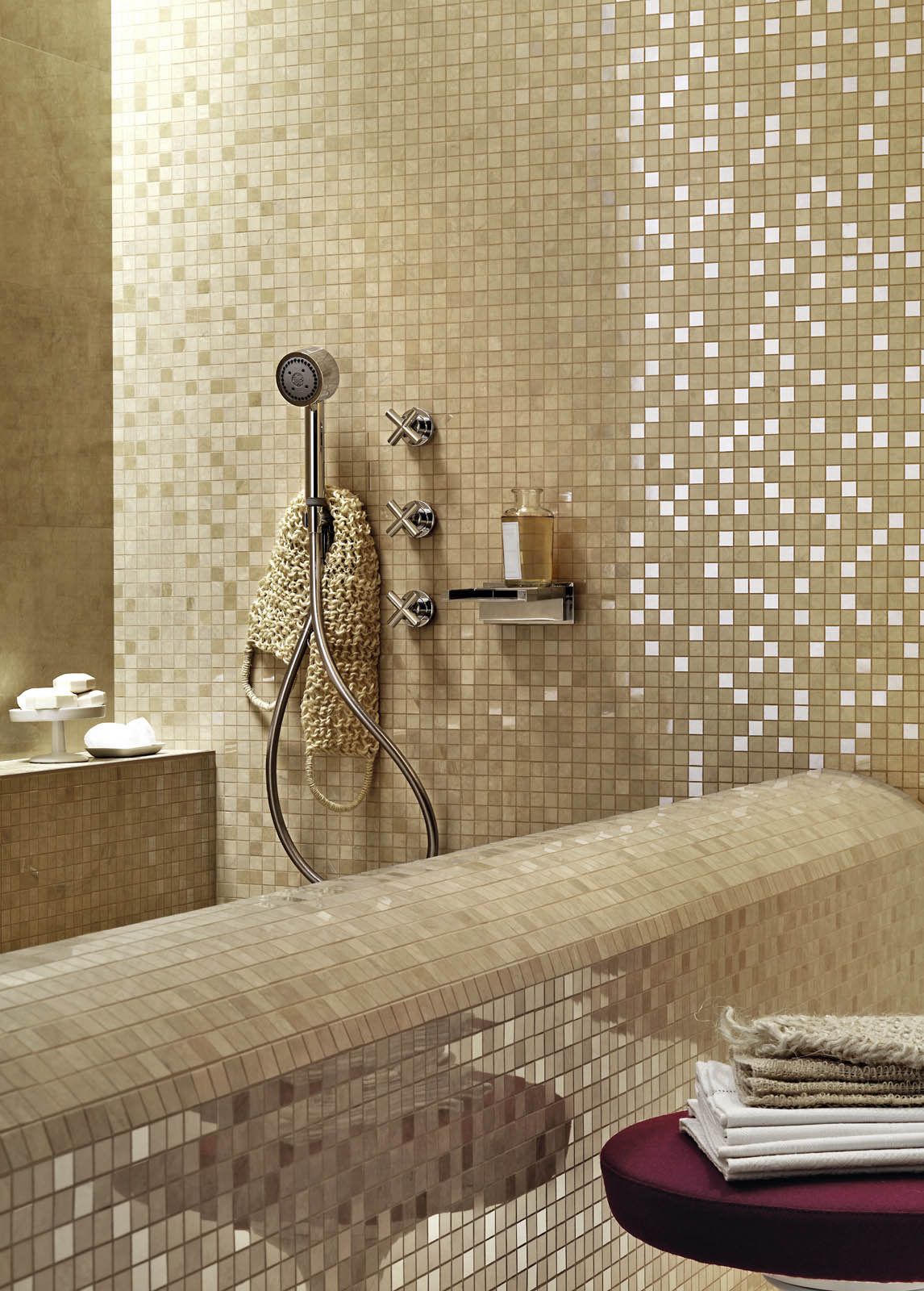 Piastrelle a mosaico per bagno e altri ambienti marazzi - Piastrelle bagno effetto mosaico ...