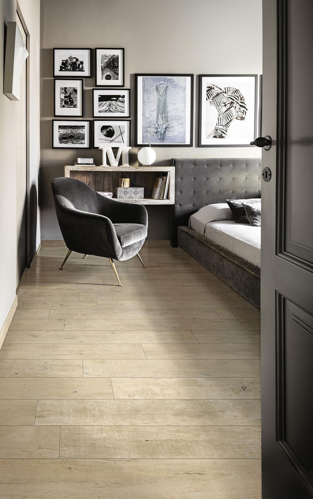 Gres porcellanato effetto legno e parquet marazzi for Parquet pour salon moderne