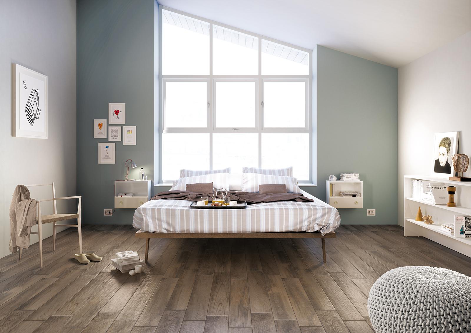 Treverkmood gres porcellanato effetto legno marazzi - Camera da letto rovere ...