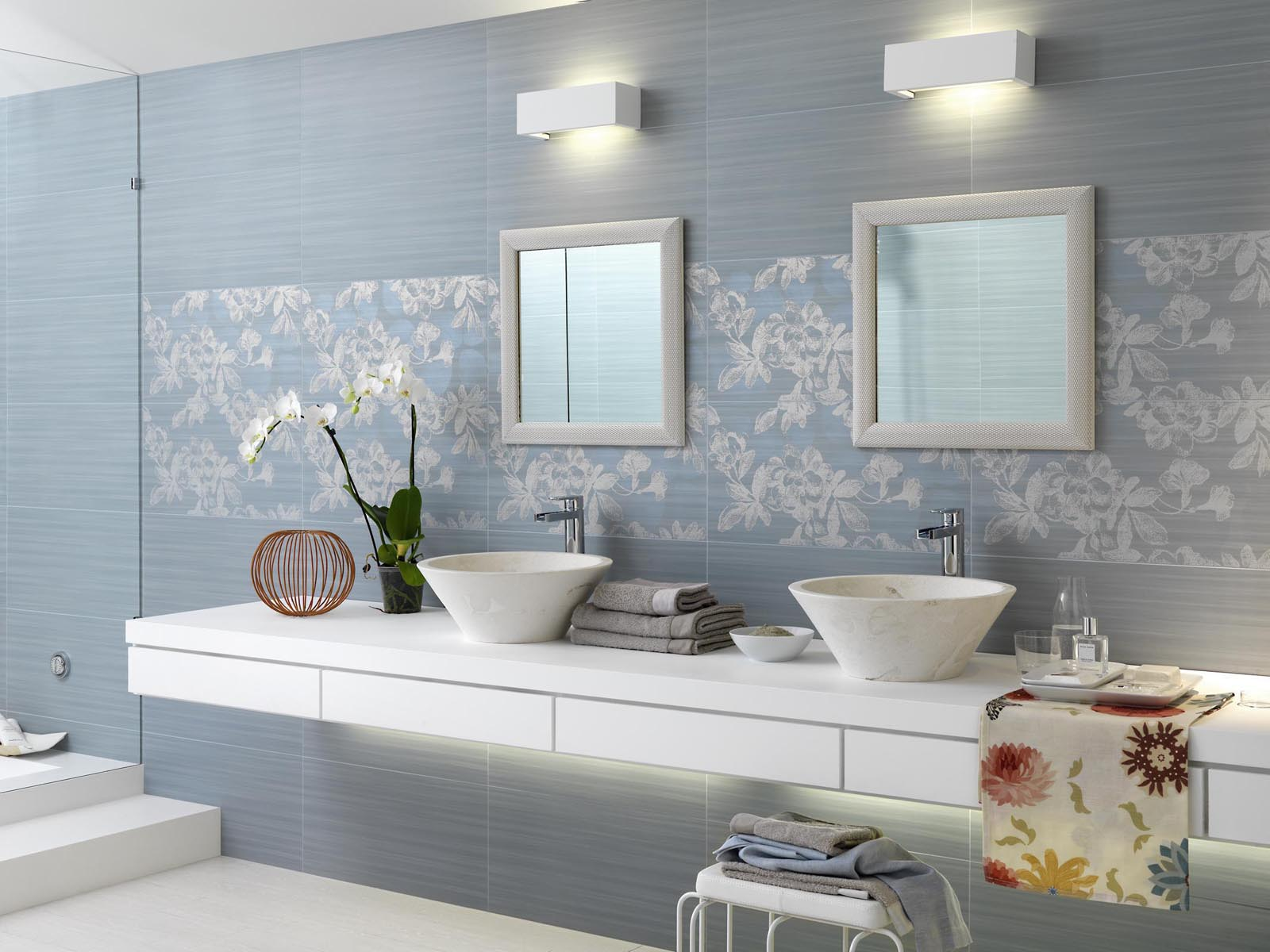 Bagni Con Piastrelle A Mosaico.Piastrelle Bagno Mosaico Azzurro Simple Bagni Design Mosaico Serie
