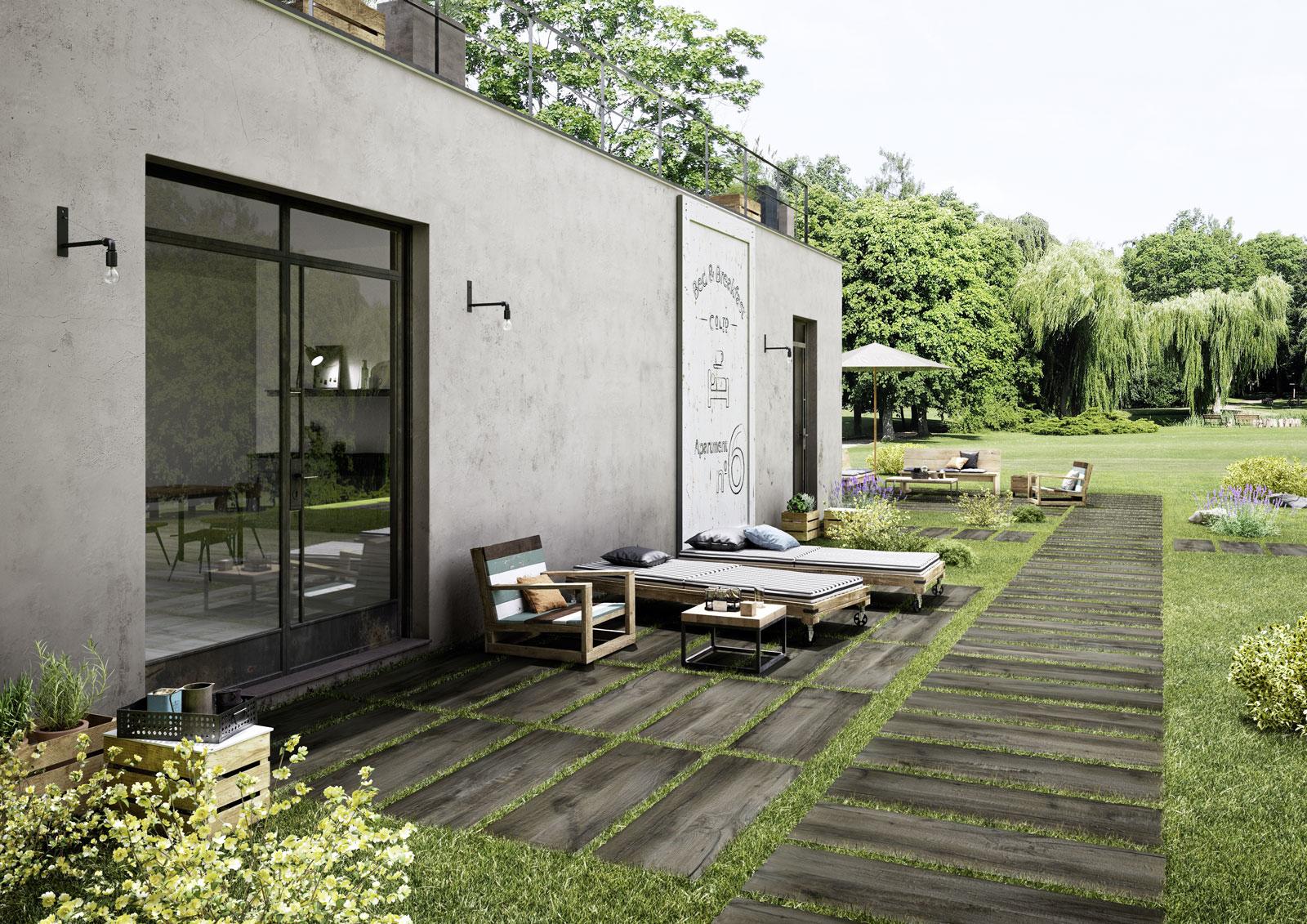 Treverkmade20 gres effetto legno spessore 20mm marazzi - Piastrelle giardino ...