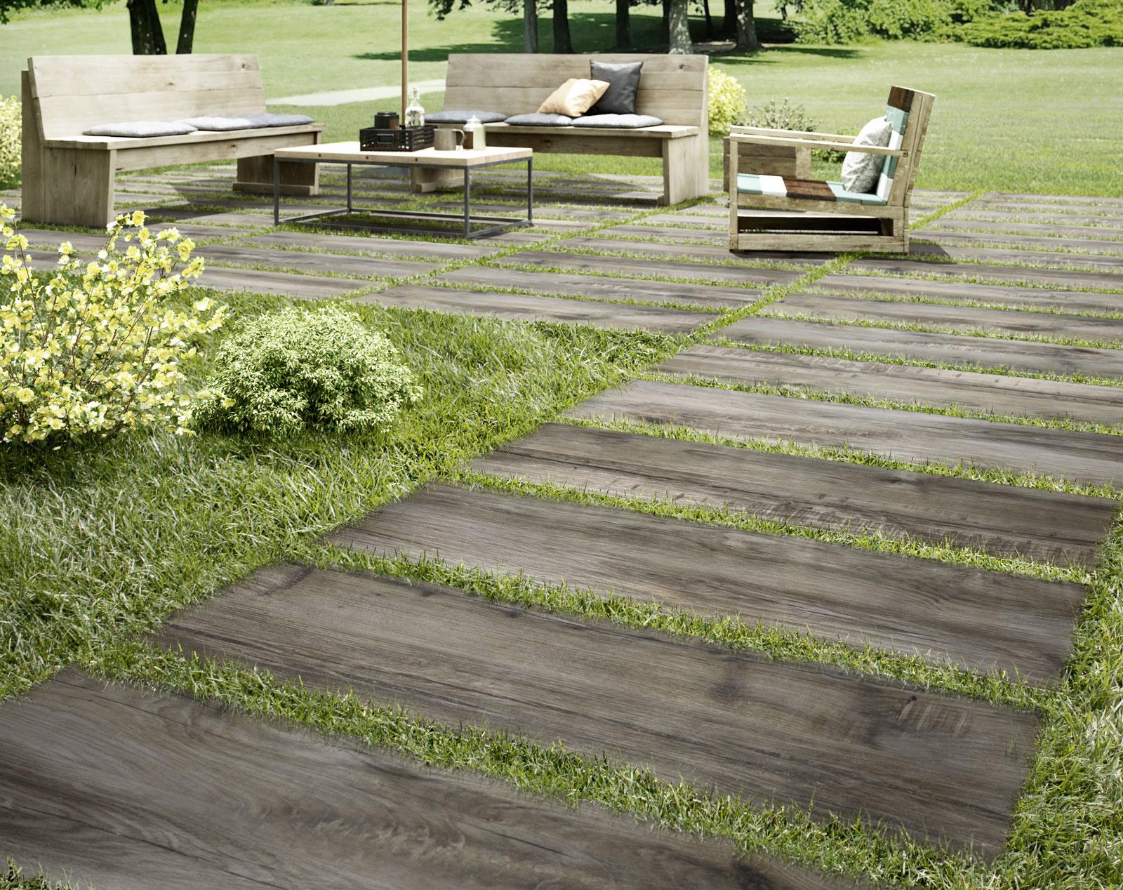 Pavimenti per esterni piastrelle gres porcellanato marazzi for Piastrelle bagno 60x30