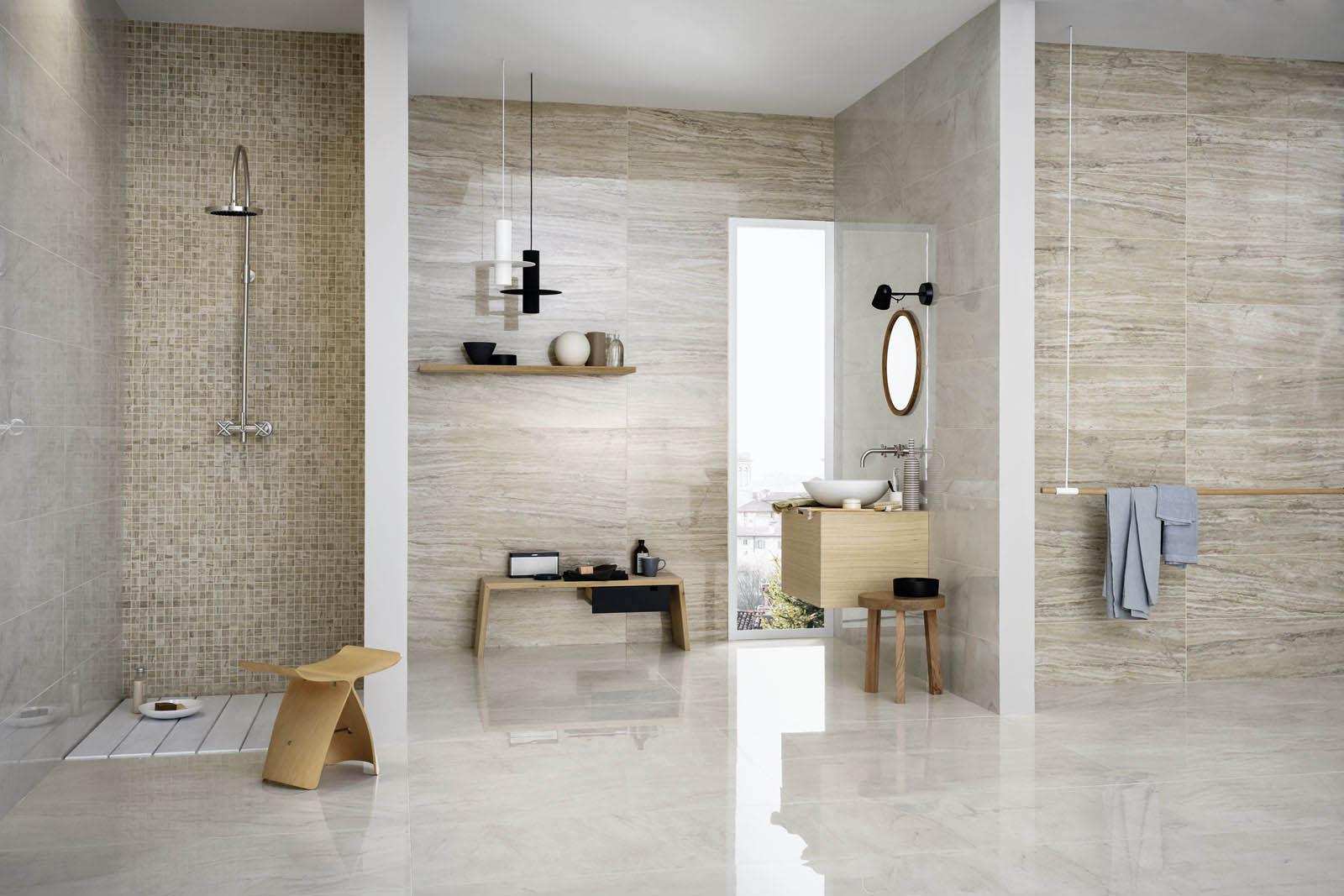 Mattonelle per bagno ceramica e gres porcellanato marazzi - Piastrelle tipo mosaico ...