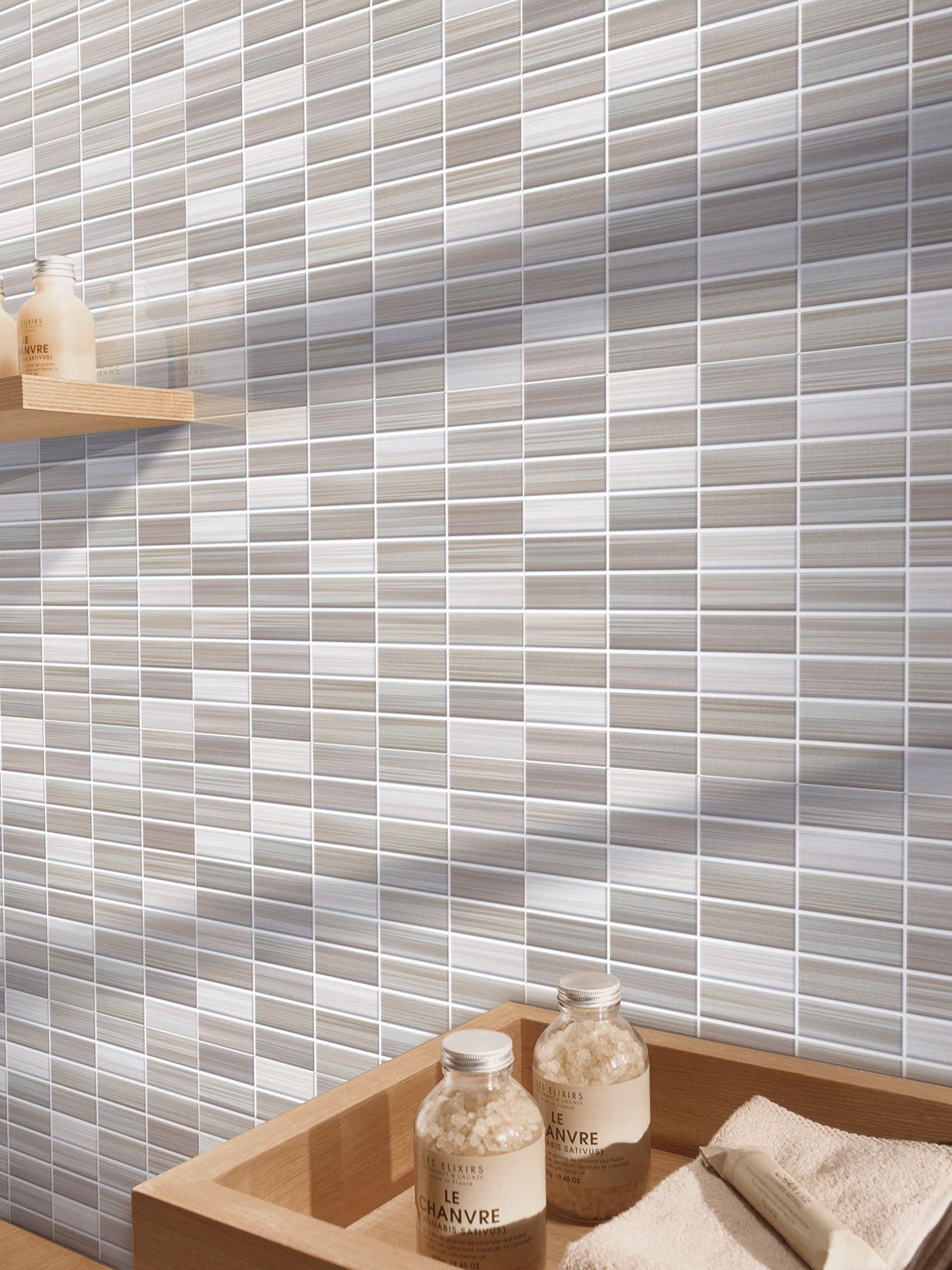 Bits gres porcellanato effetto mosaico marazzi - Mosaico piastrelle ...