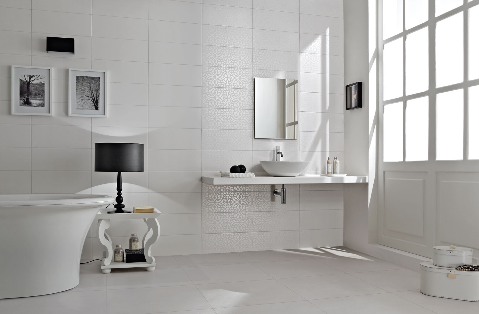 black white piastrelle per bagno e cucina marazzi. Black Bedroom Furniture Sets. Home Design Ideas