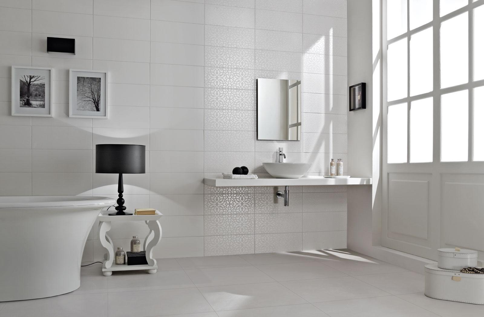 Piastrelle bagno bianche tw79 regardsdefemmes for Piastrelle bianche lucide pavimento