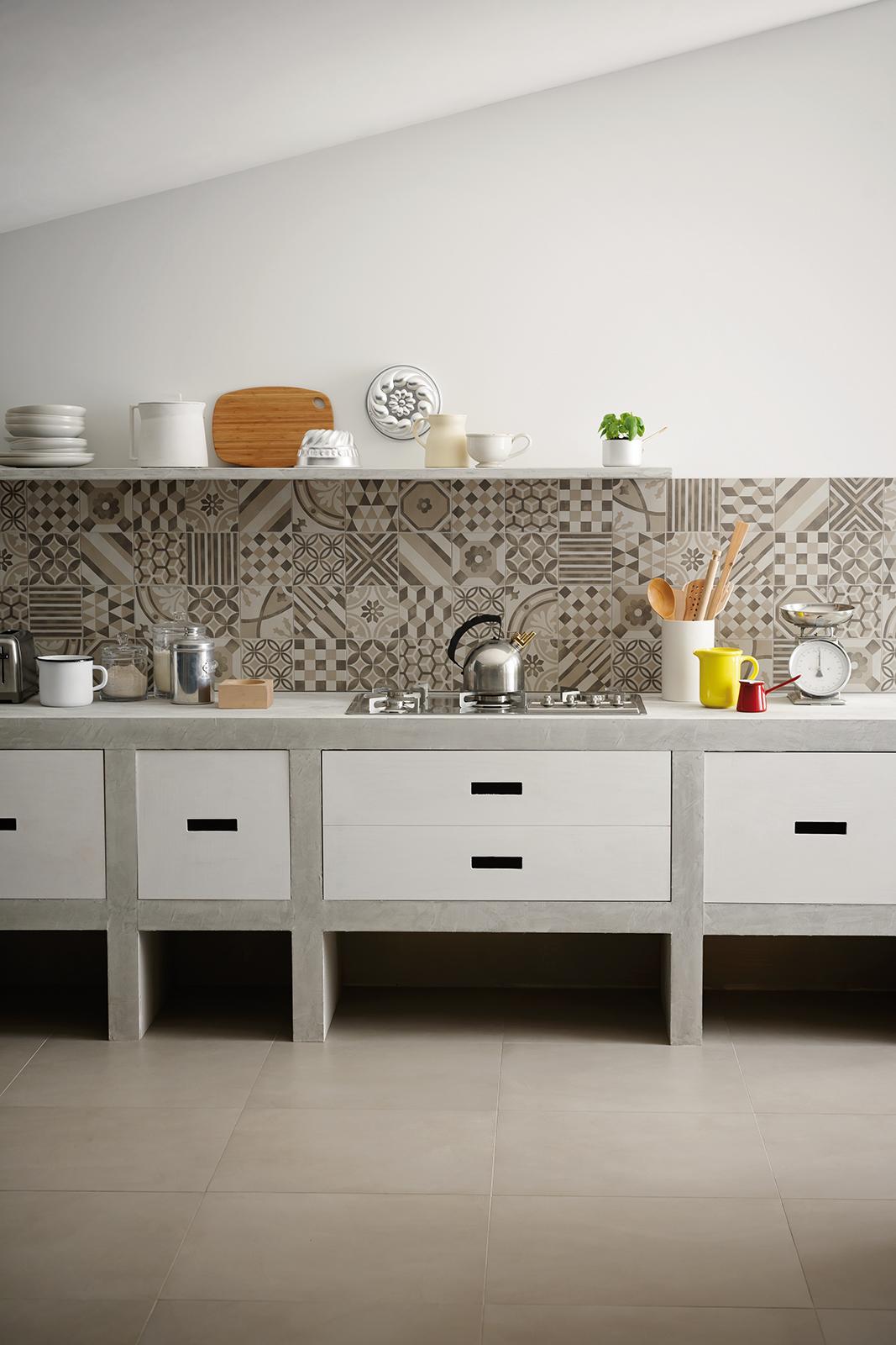Cucina Pavimento Verde : Cucina a legna nordica rosa. Cucina ...