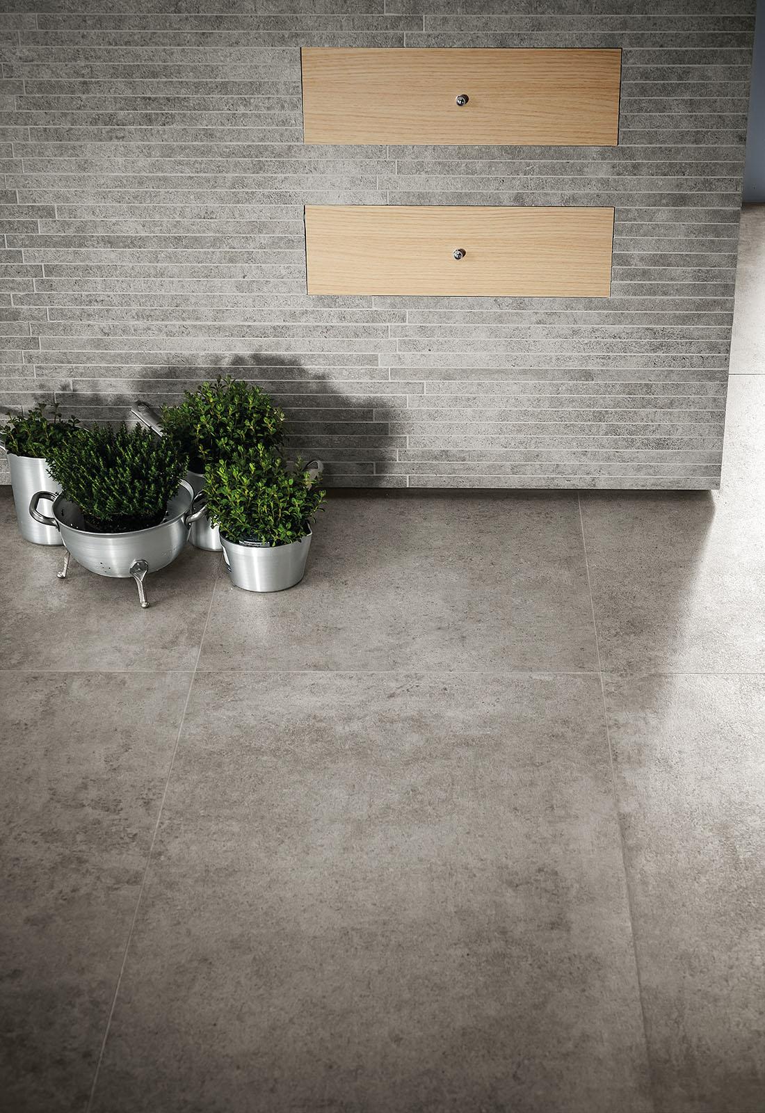Gres porcellanato effetto cotto e cemento marazzi for Gres effetto cemento