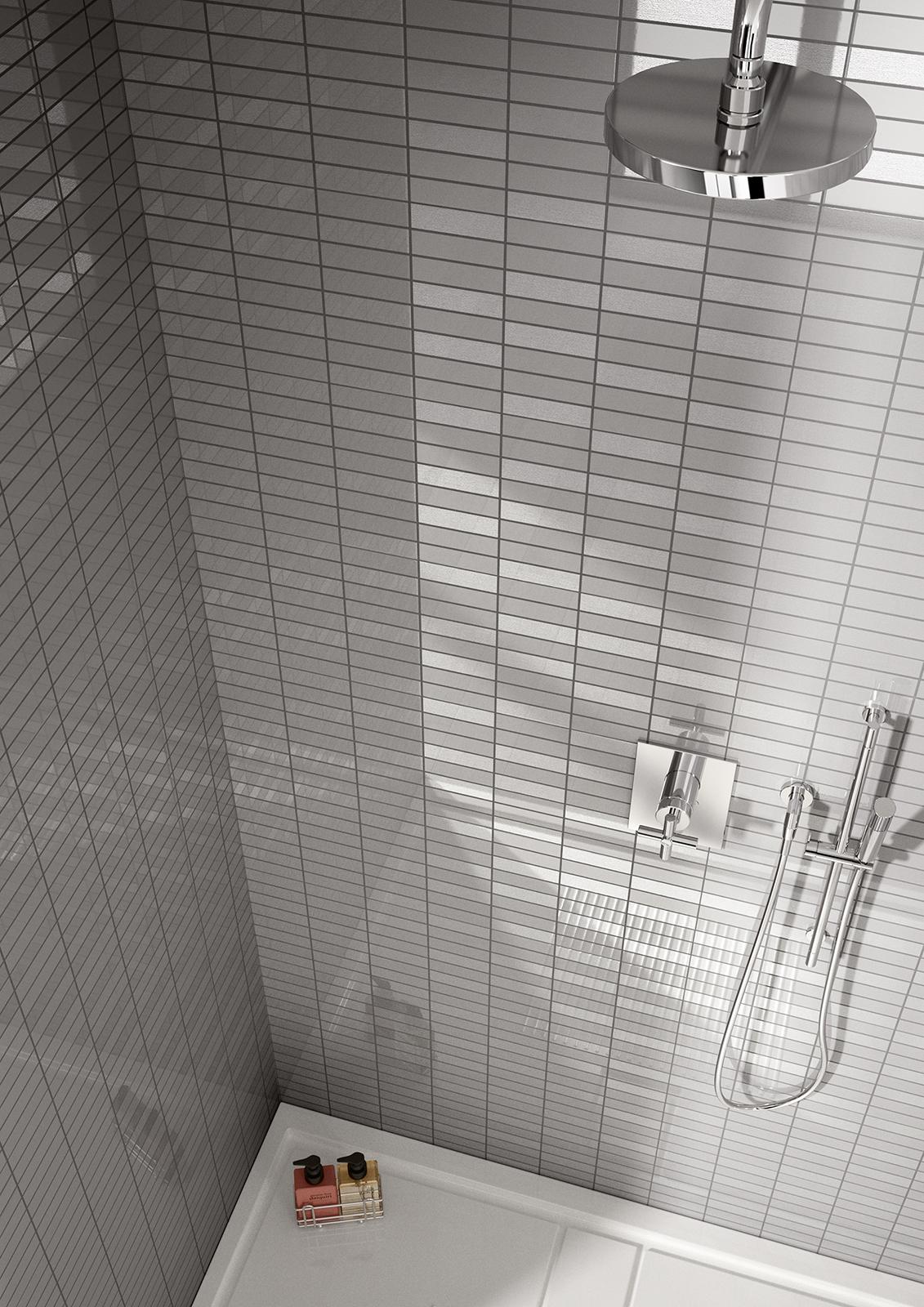 Piastrelle a mosaico per bagno e altri ambienti marazzi - Mosaici per doccia ...