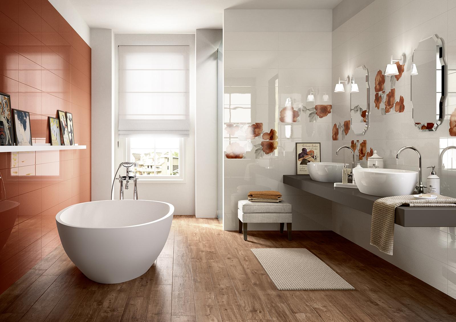 Colourline ceramica lucida rivestimento bagno marazzi for Marazzi bagno