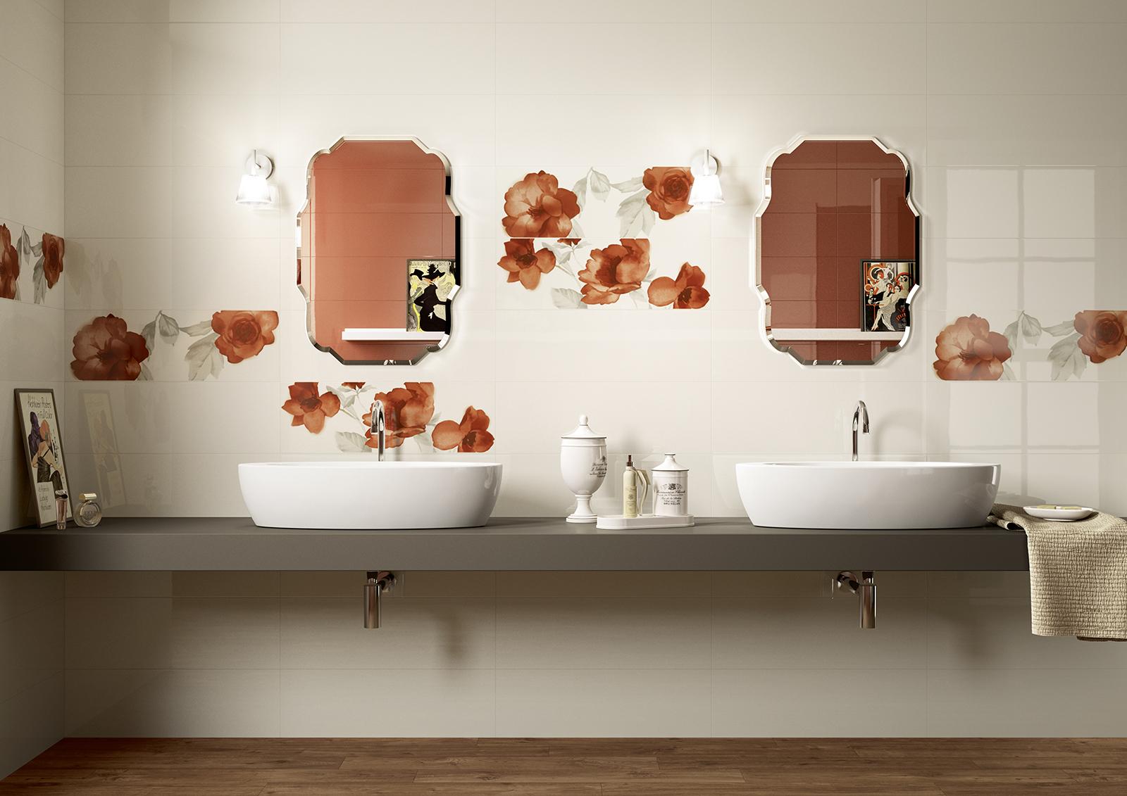 Colourline ceramica lucida rivestimento bagno marazzi for Piastrelle con decori