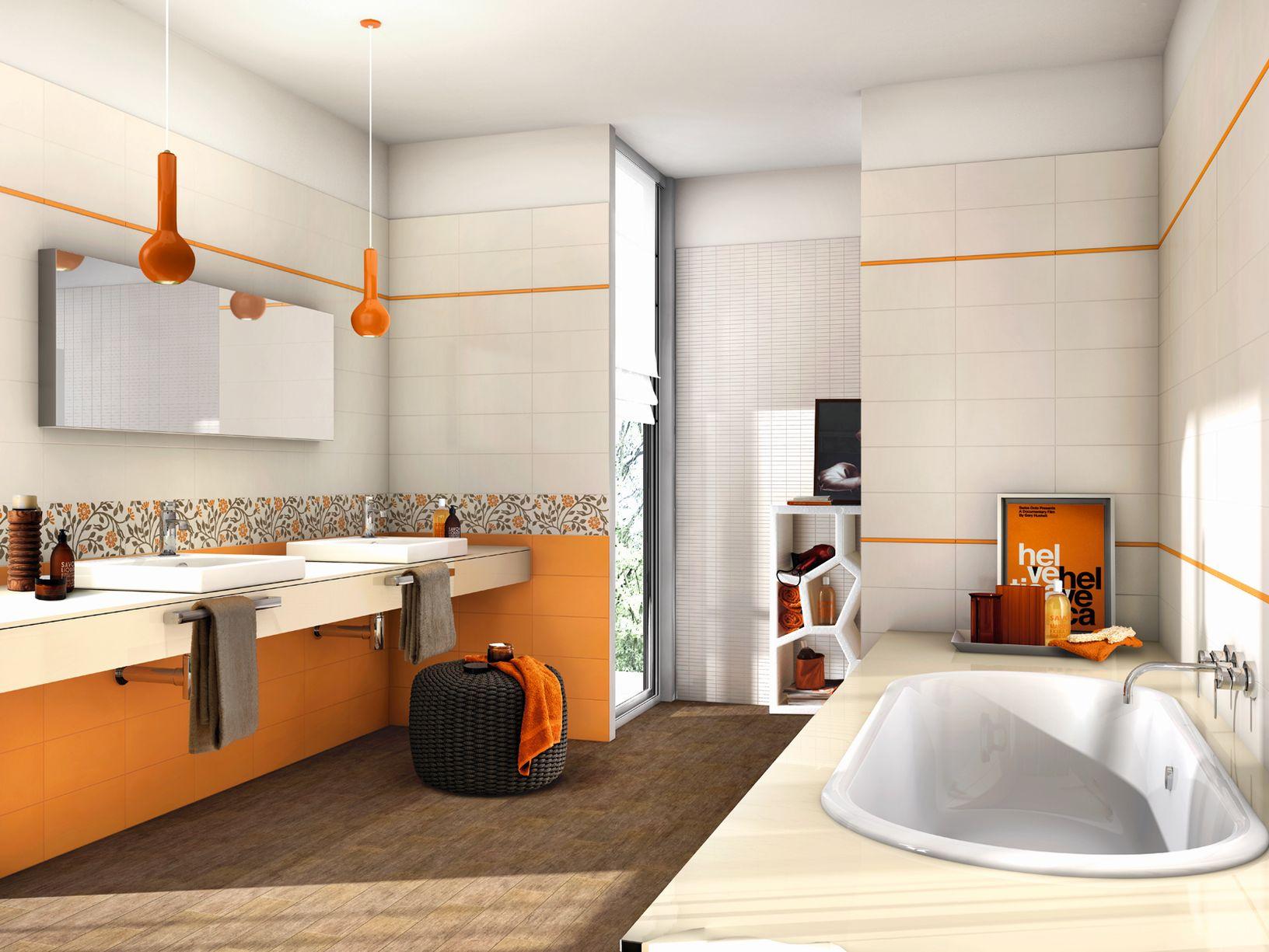 Piastrelle Arancioni Per Bagno mosaico opus vitreum luminose arancio casa del bagno a