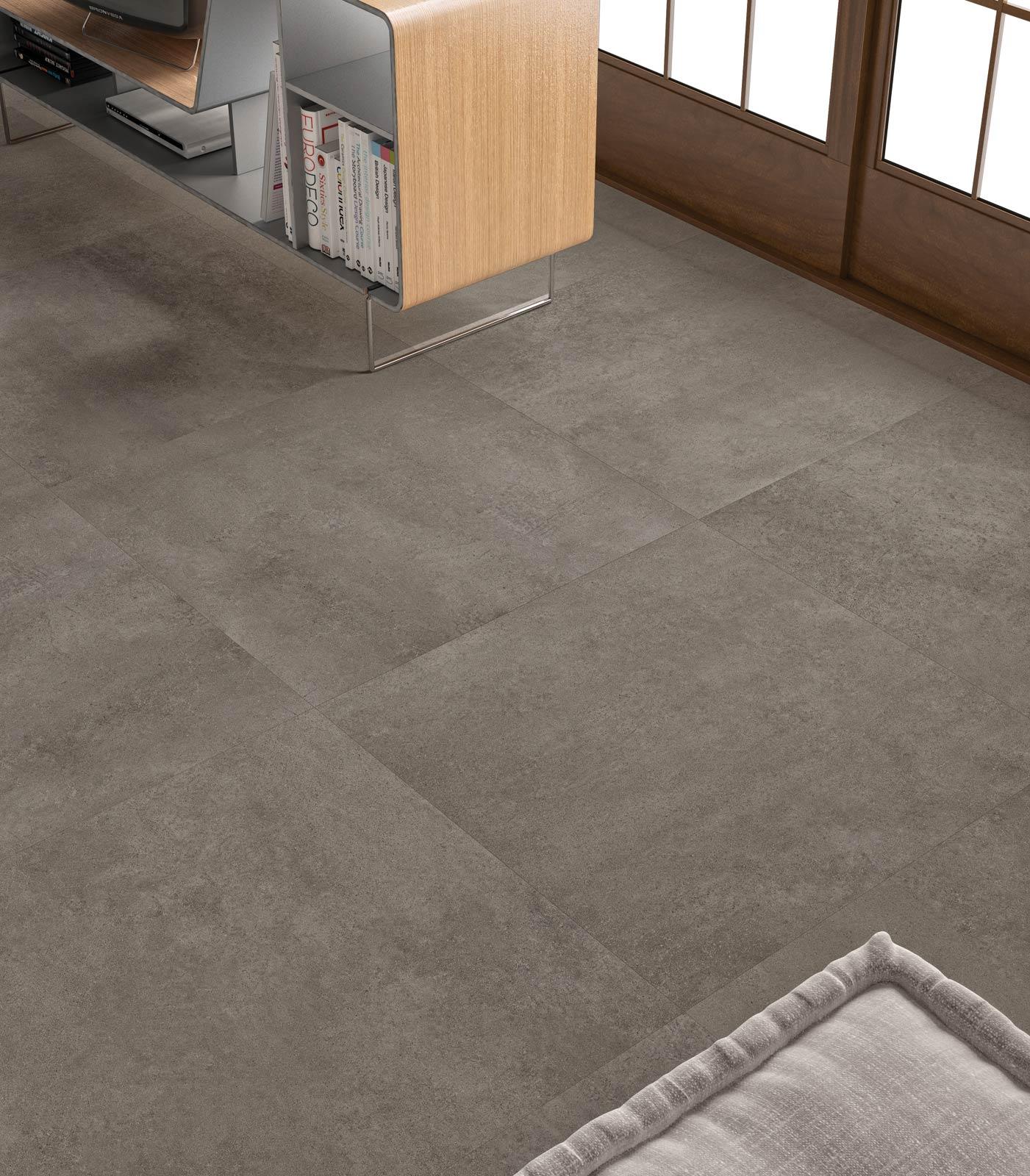 Gres porcellanato effetto cotto e cemento marazzi - Piastrelle effetto cemento ...