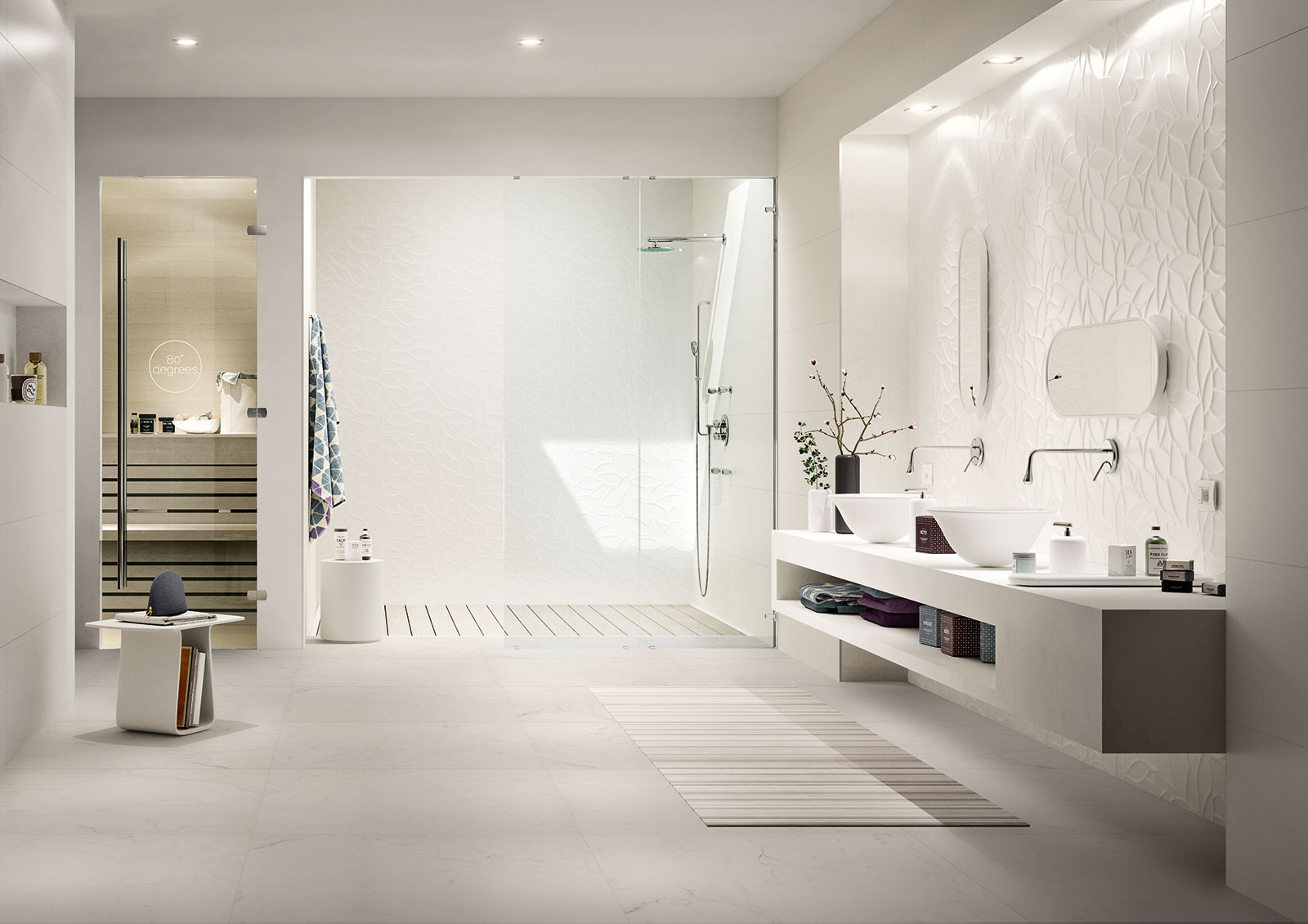 Essenziale ceramica bianca per bagni marazzi for Casa essenziale