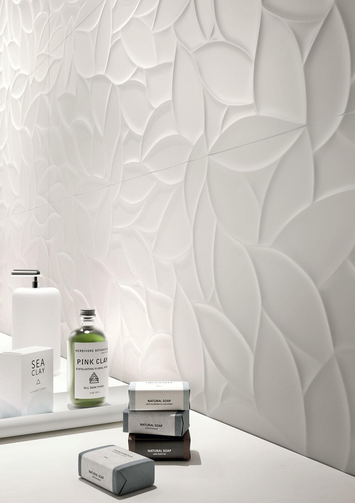 essenziale - ceramica bianca per bagni | marazzi - Foto Piastrelle Bagni Moderni