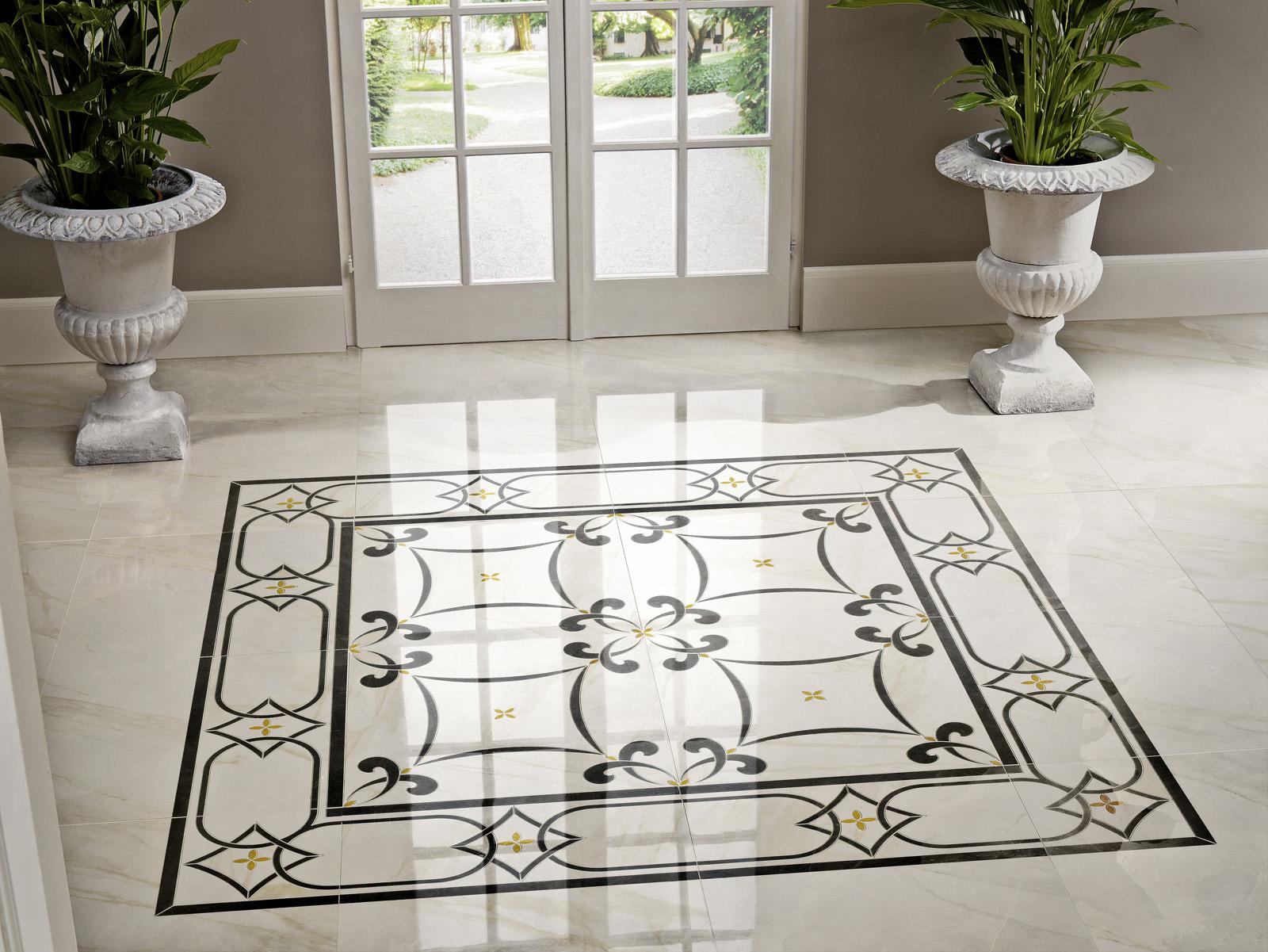 Crema marfil marble floors